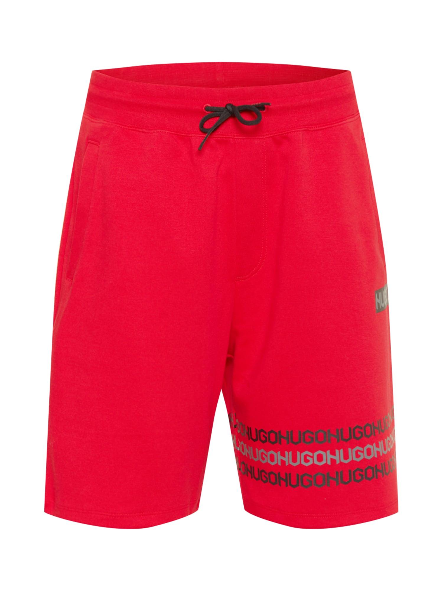 HUGO Kelnės 'Dakumi' raudona / pilka / tamsiai pilka