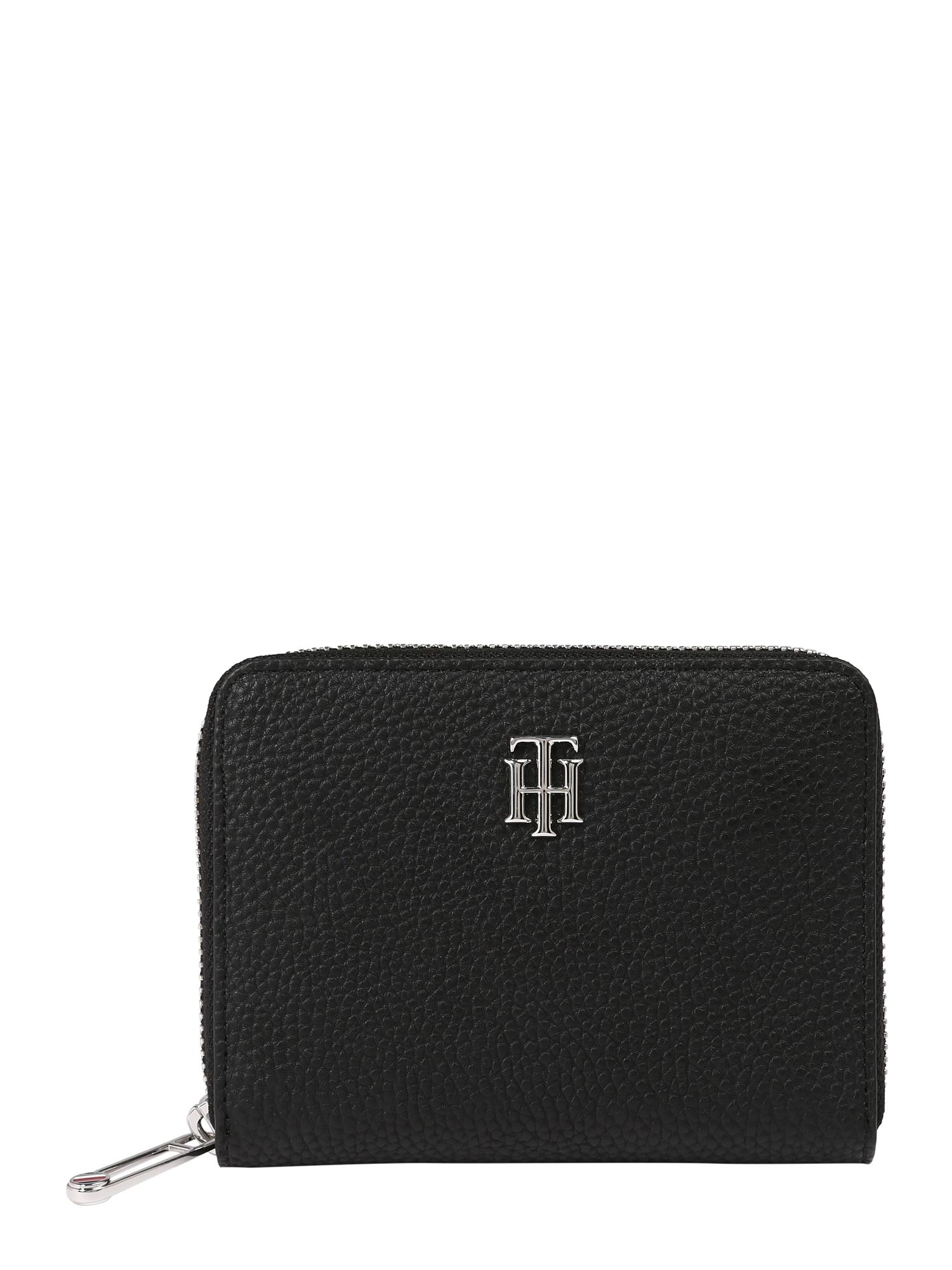 TOMMY HILFIGER Peněženka  černá / stříbrná