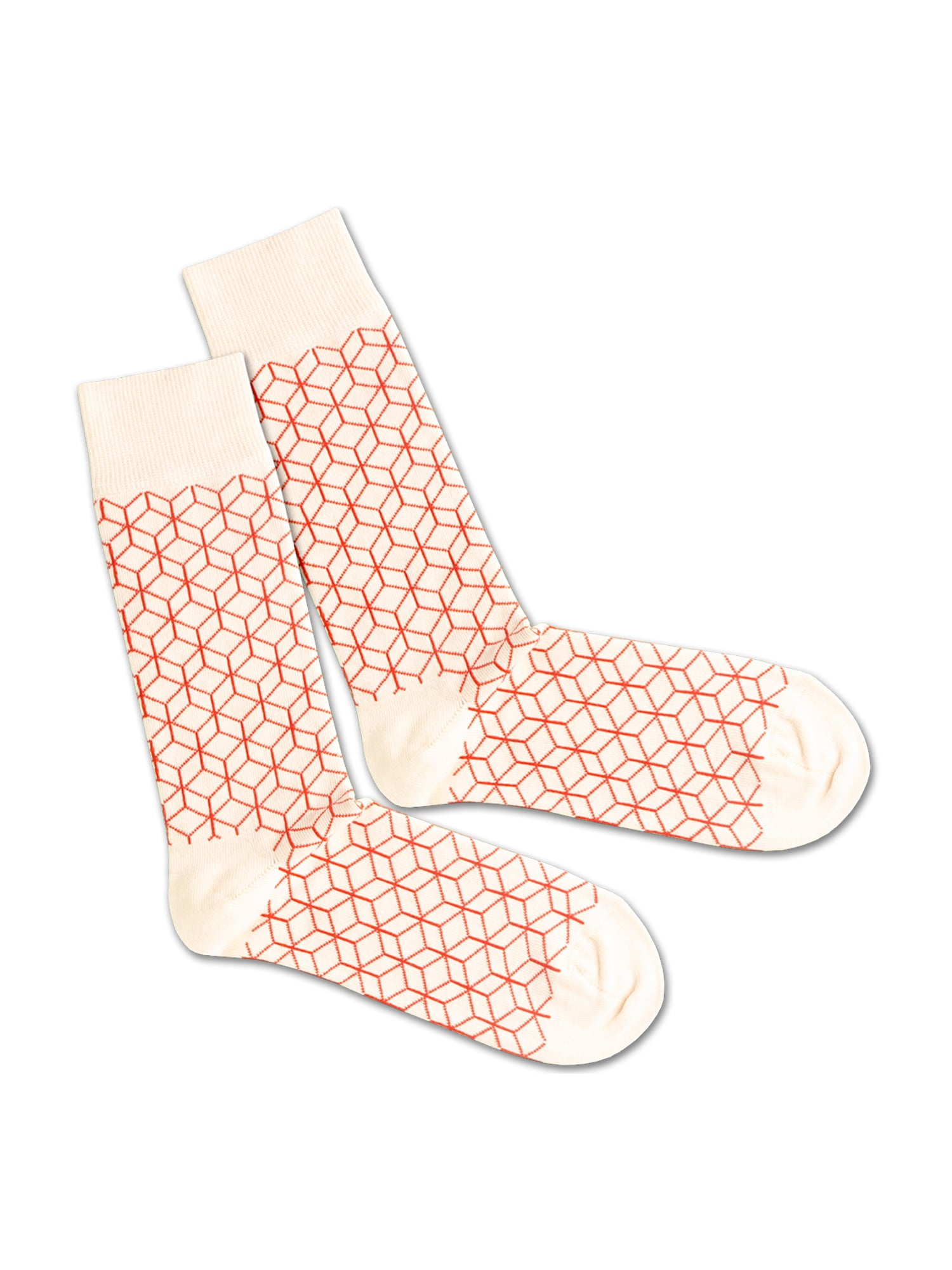 DillySocks Ponožky 'White Lining'  červená / bílá