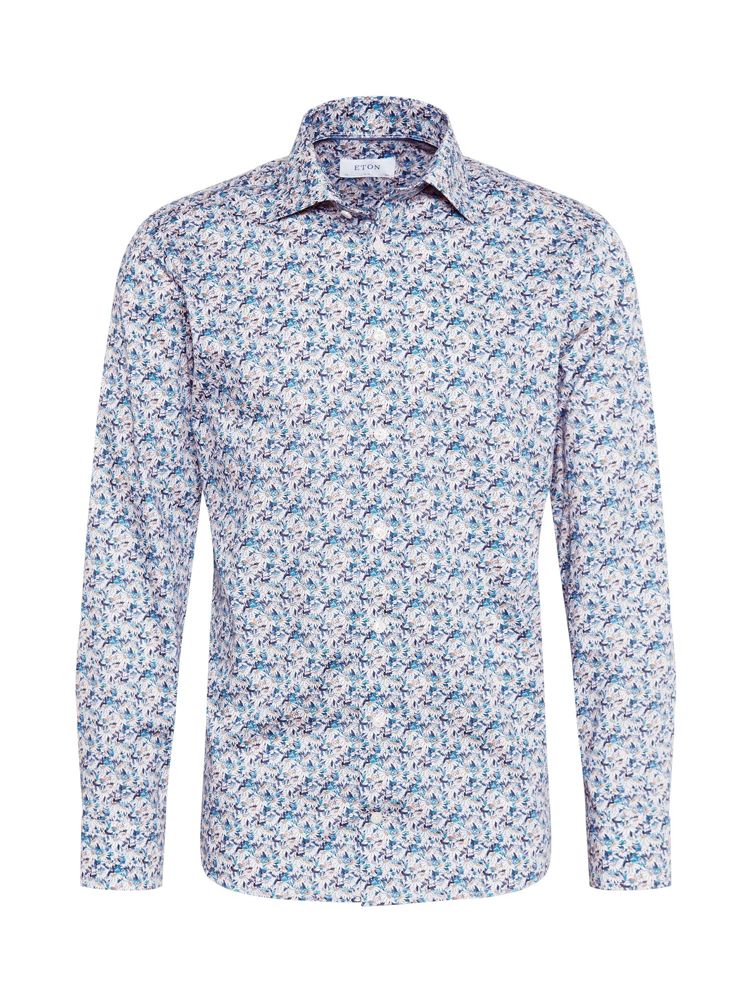 ETON Marškiniai tamsiai mėlyna jūros spalva / šviesiai mėlyna / balta
