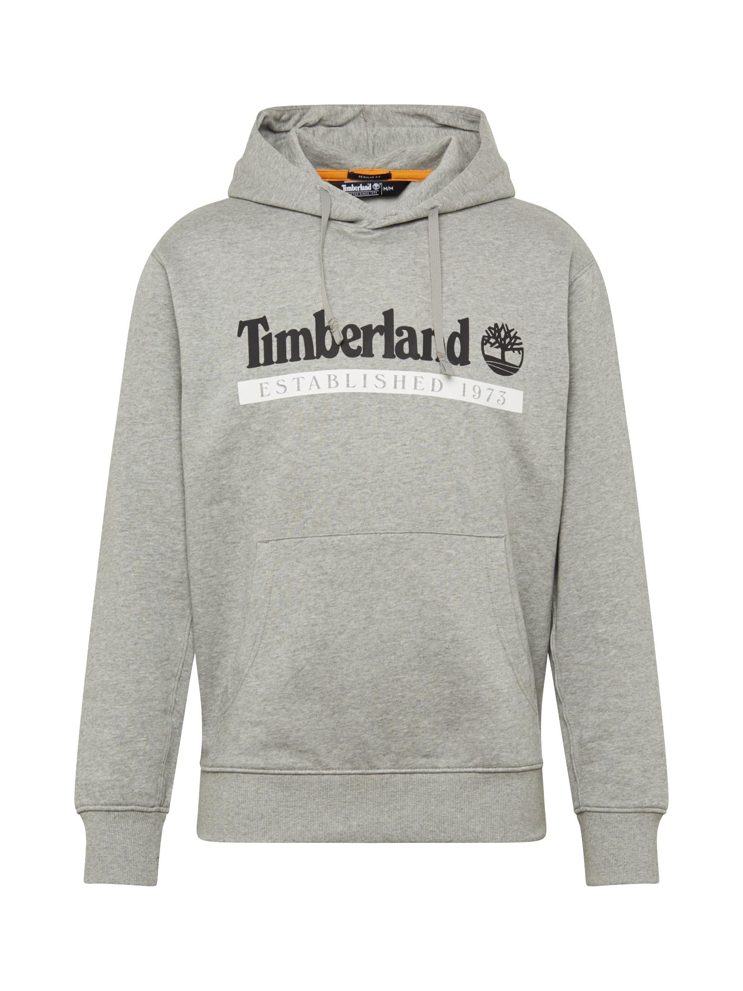 TIMBERLAND Mikina  šedá / černá / bílá