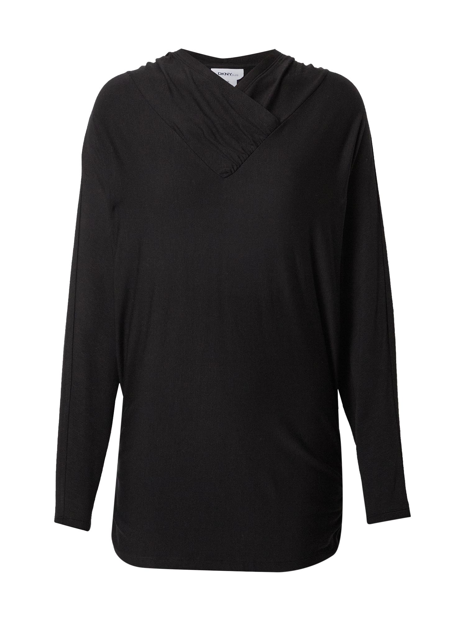 DKNY Megztinis be užsegimo juoda