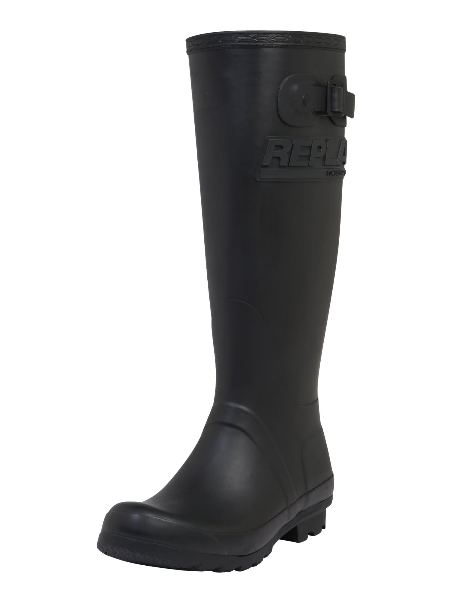 REPLAY Guminiai batai margai juoda