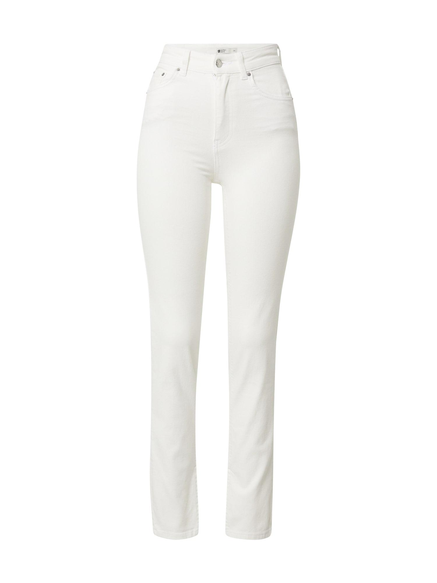 Gina Tricot Džinsai balto džinso spalva