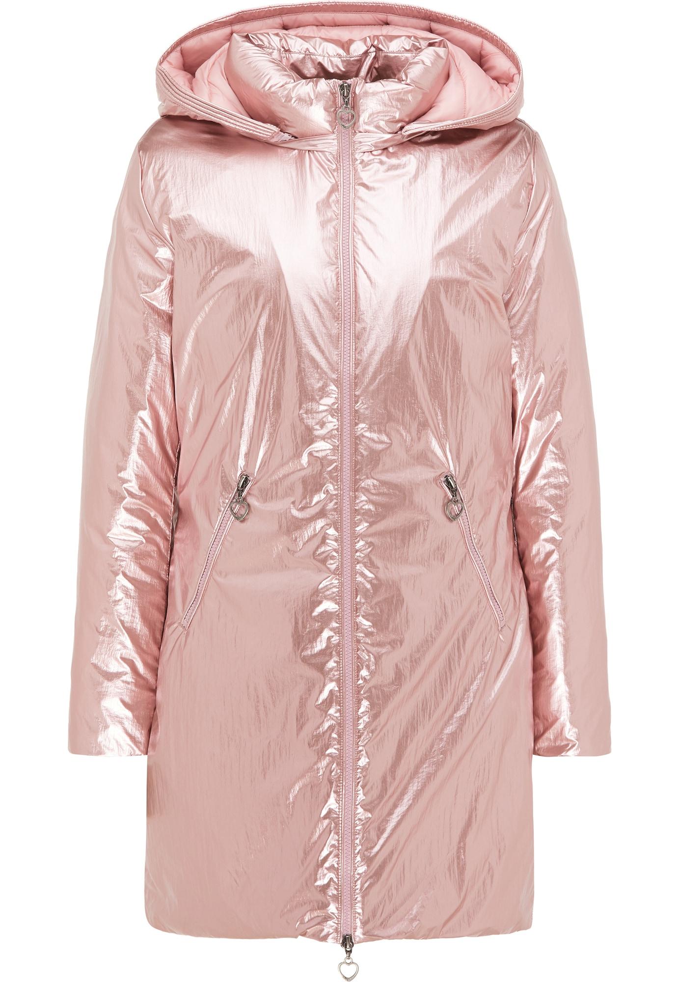 MYMO Žieminis paltas ryškiai rožinė spalva