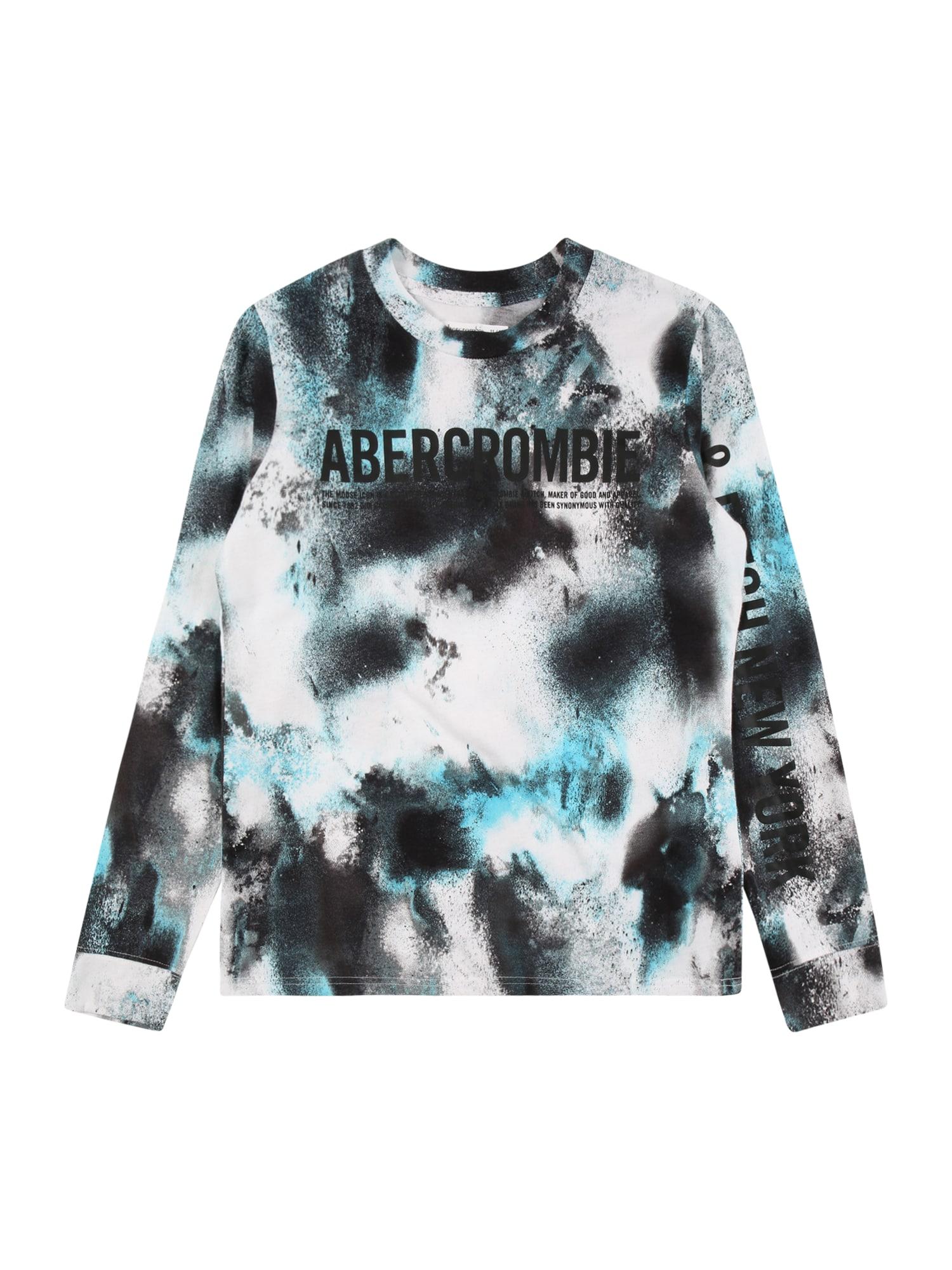 Abercrombie & Fitch Marškinėliai 'HIKE BEAST' nakties mėlyna / vandens spalva / balta / juoda