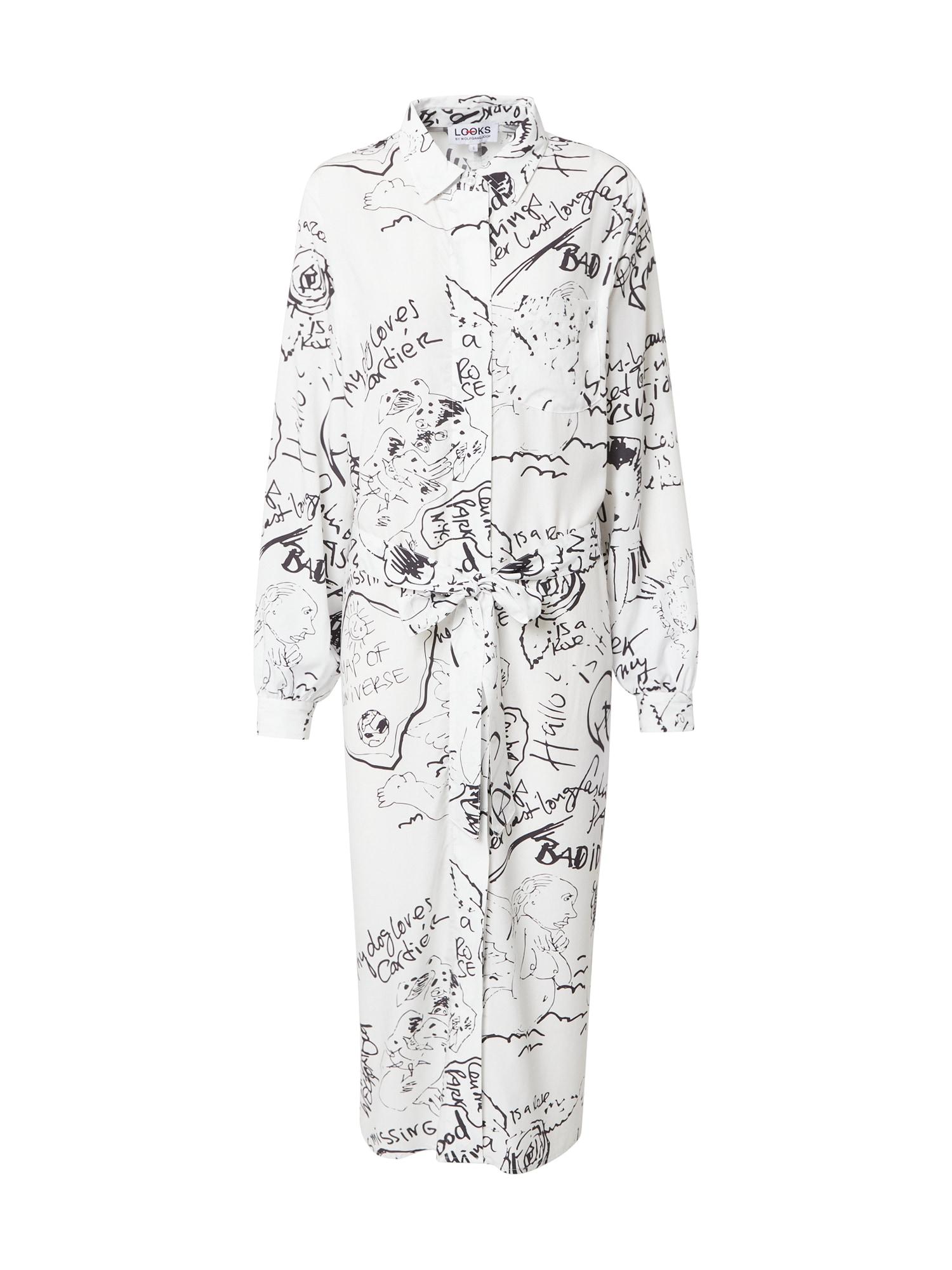 LOOKS by Wolfgang Joop Palaidinės tipo suknelė balta / juoda