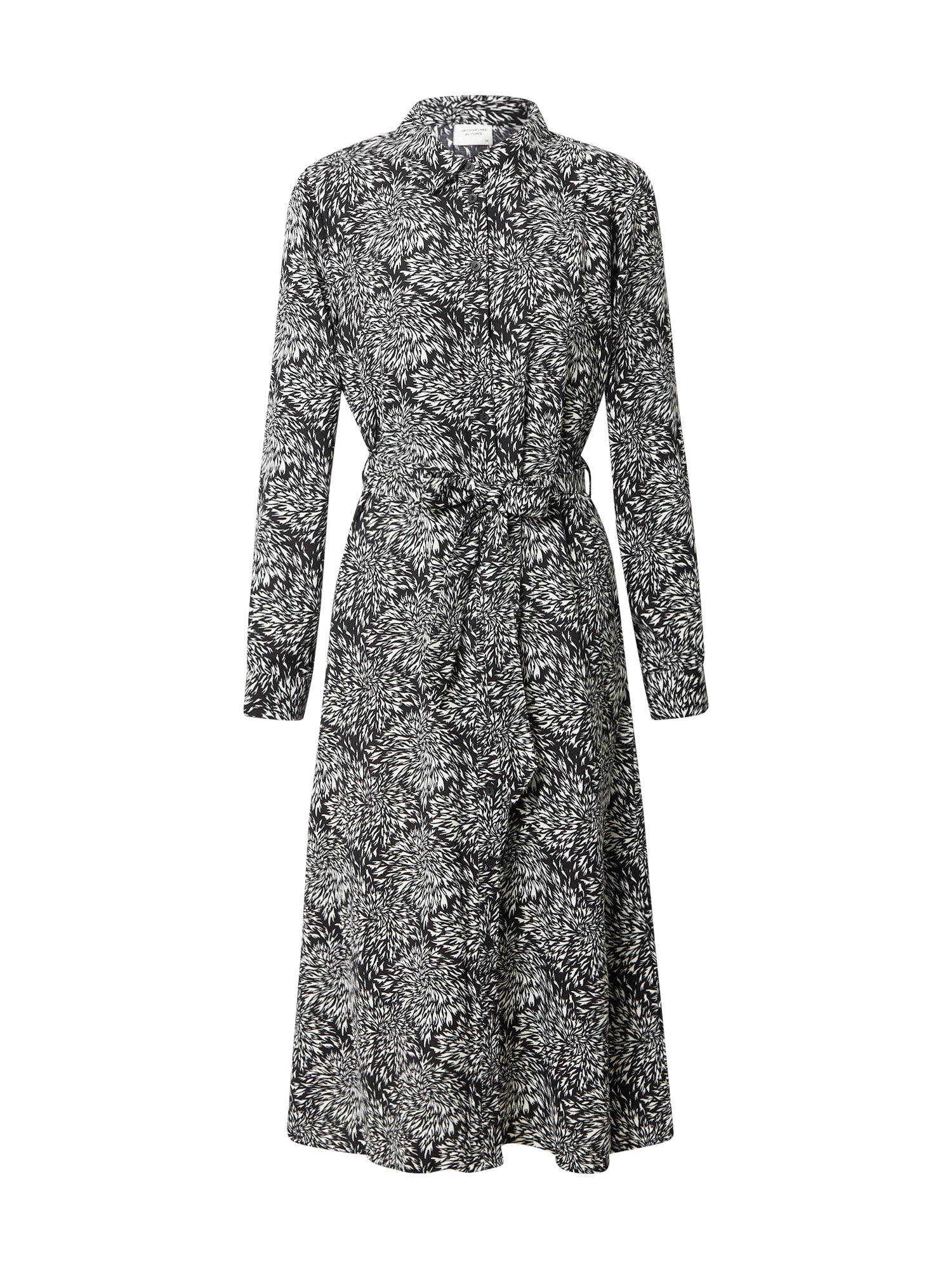 JACQUELINE de YONG Košilové šaty 'Barcelona'  černá / bílá