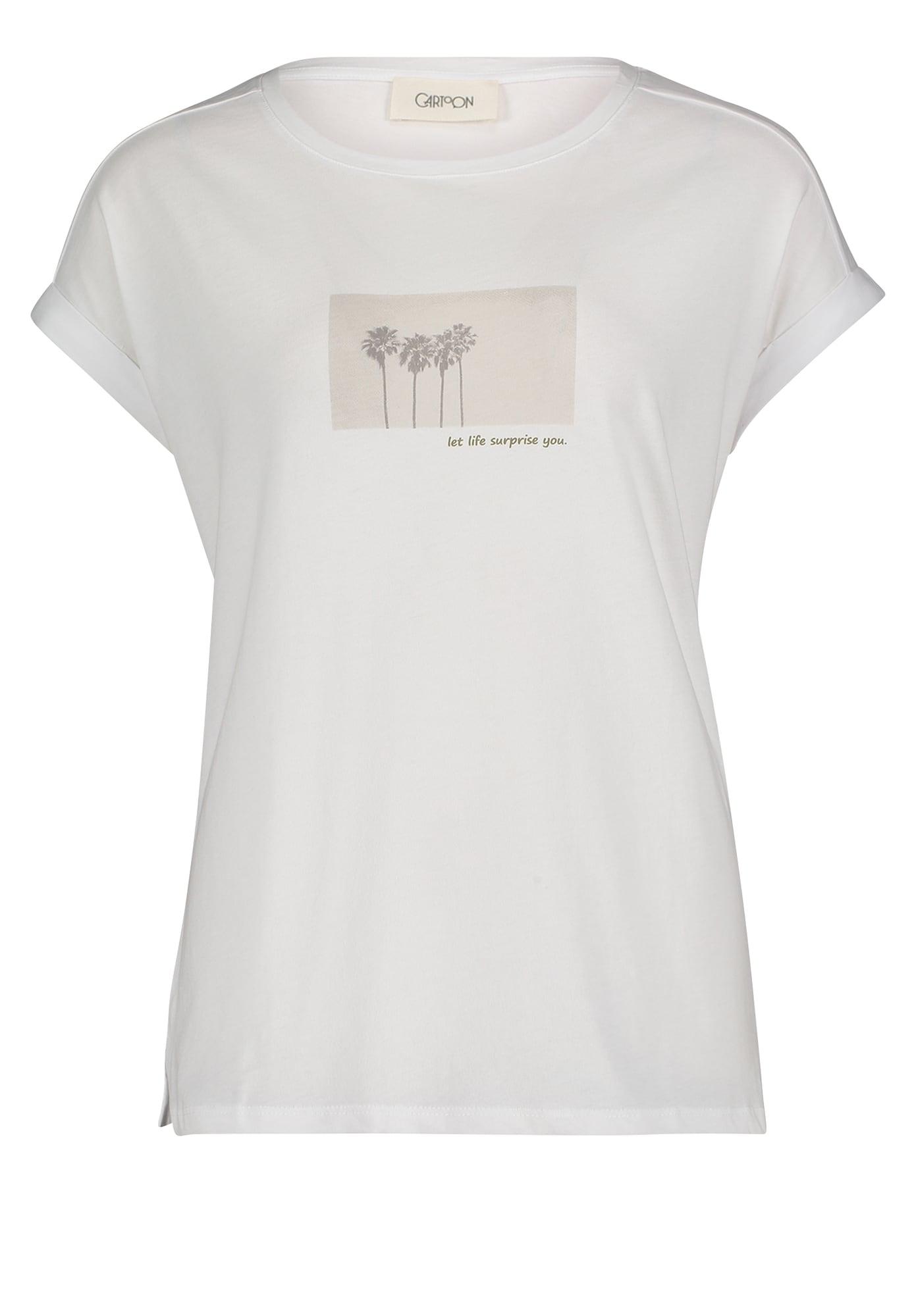 Cartoon Marškinėliai balta / pilka / šviesiai pilka