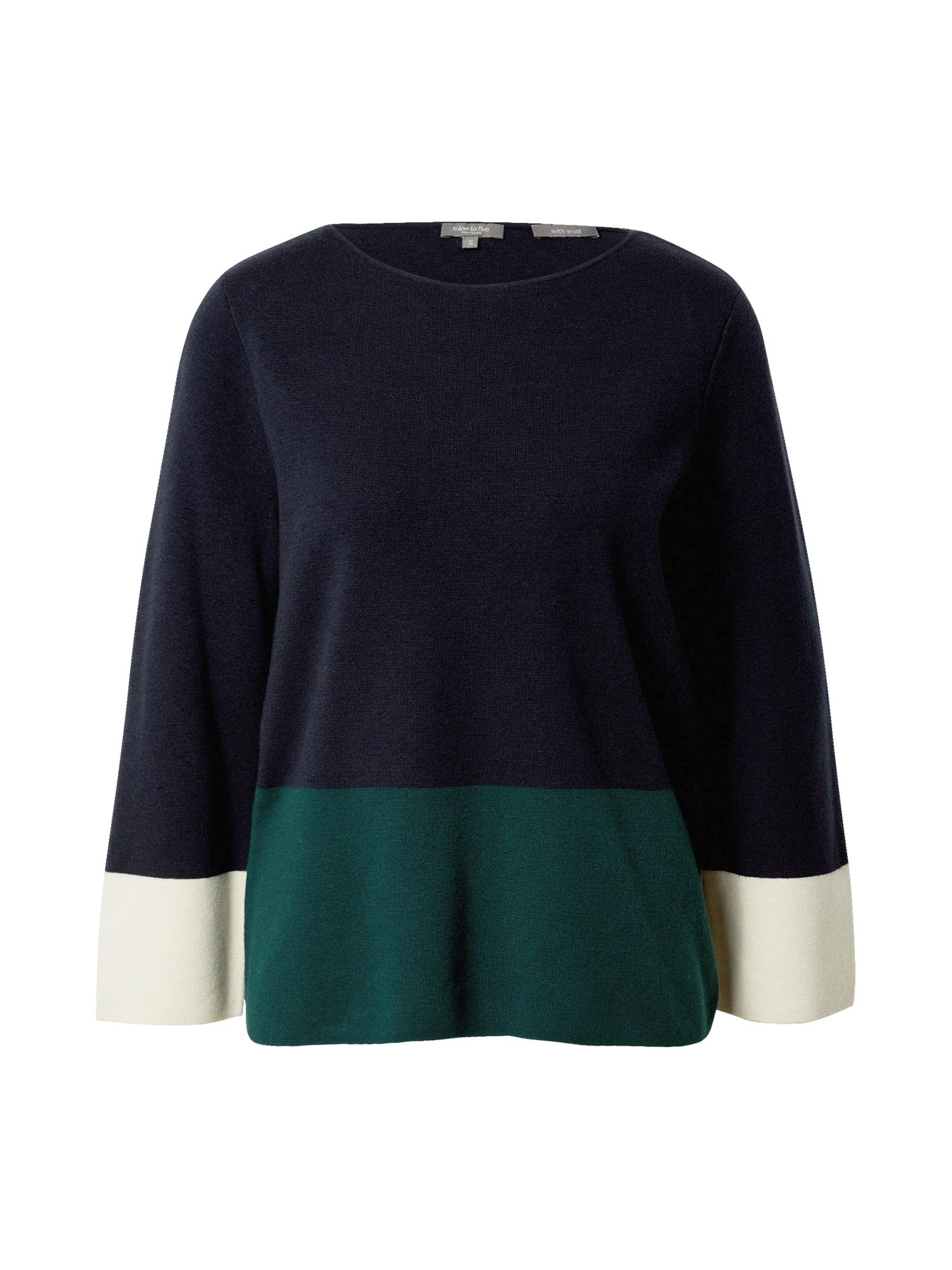 MINE TO FIVE Megztinis tamsiai mėlyna / žalia / balta