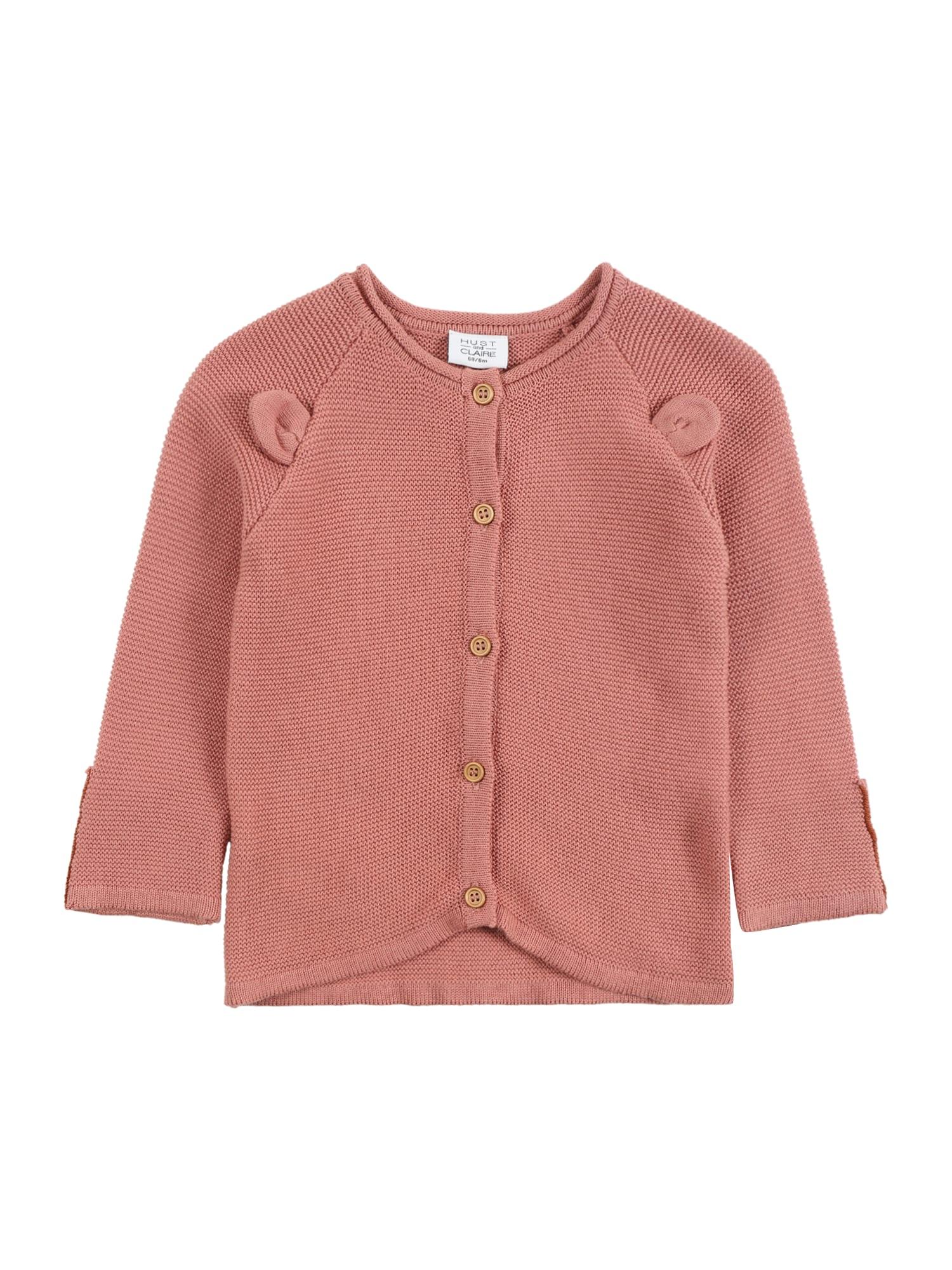 Hust & Claire Kardiganas 'Cilla' ryškiai rožinė spalva / rusvai oranžinė