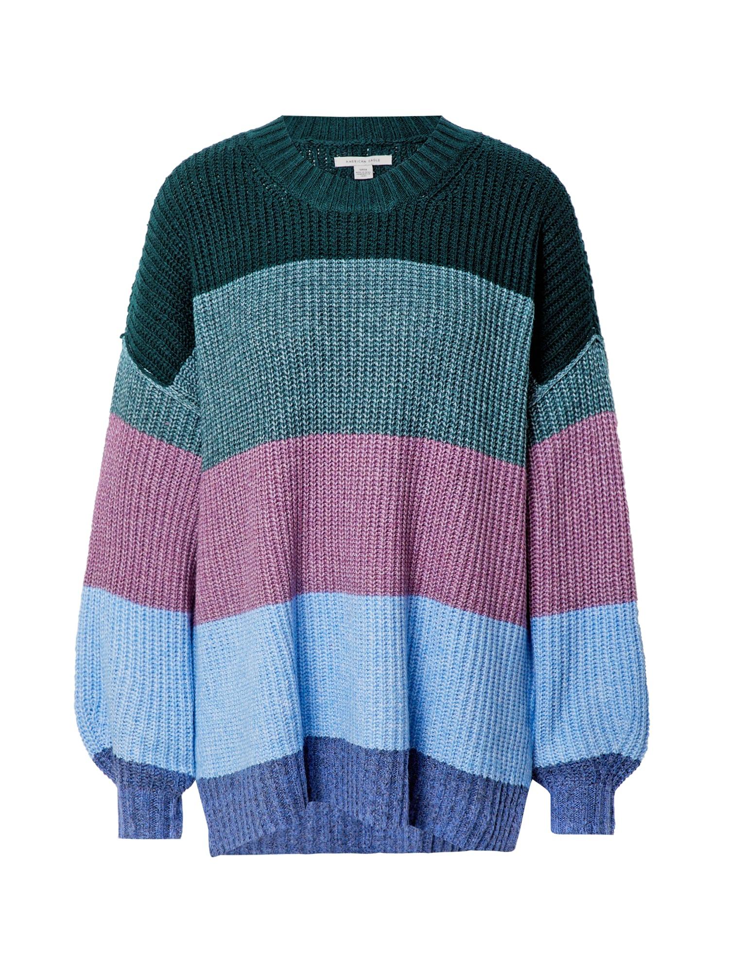 American Eagle Laisvas megztinis įdegio spalva / tamsiai rožinė / tamsiai mėlyna / šviesiai mėlyna / žalia