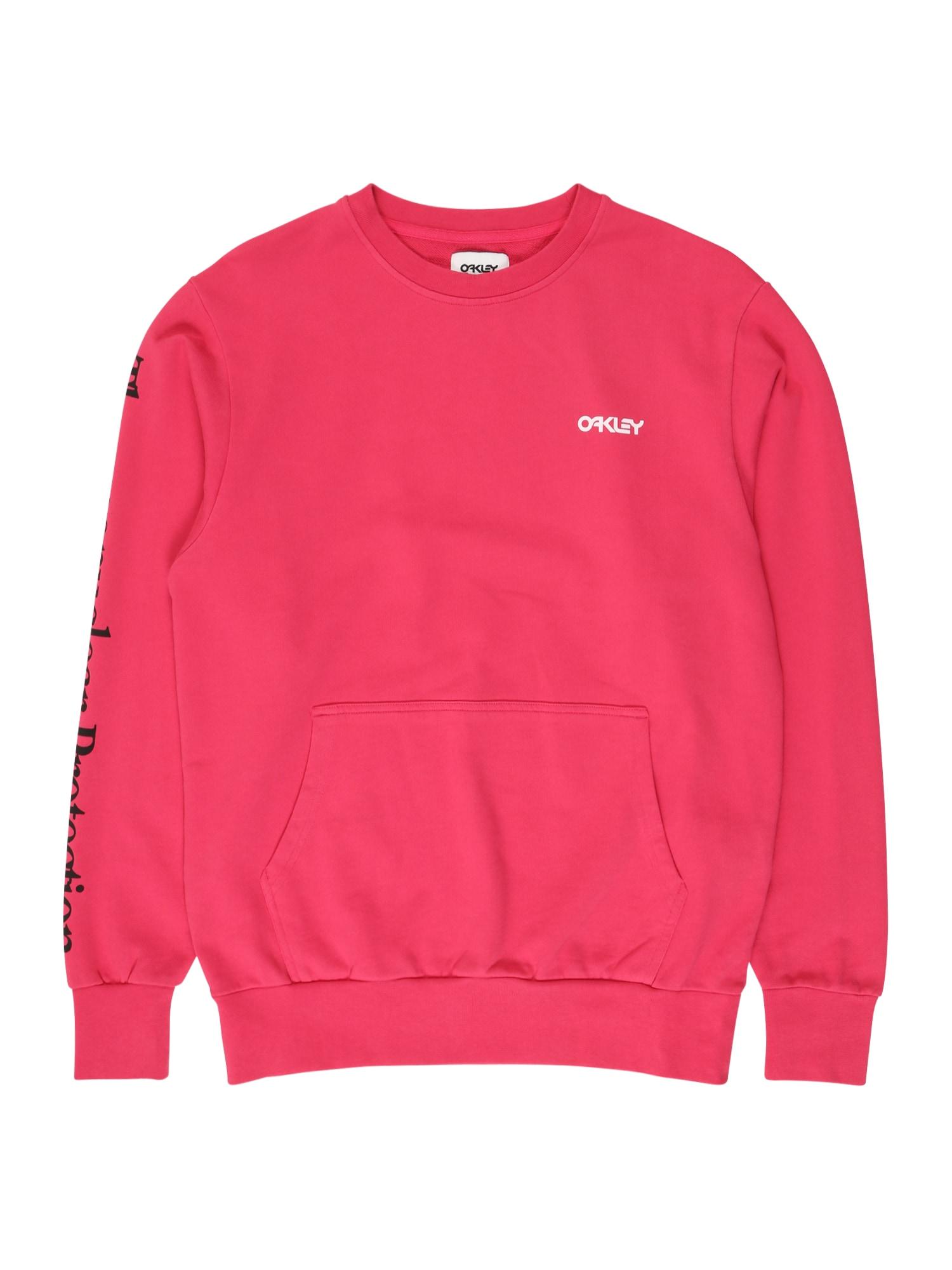 OAKLEY Sportinio tipo megztinis rubinų raudona / juoda