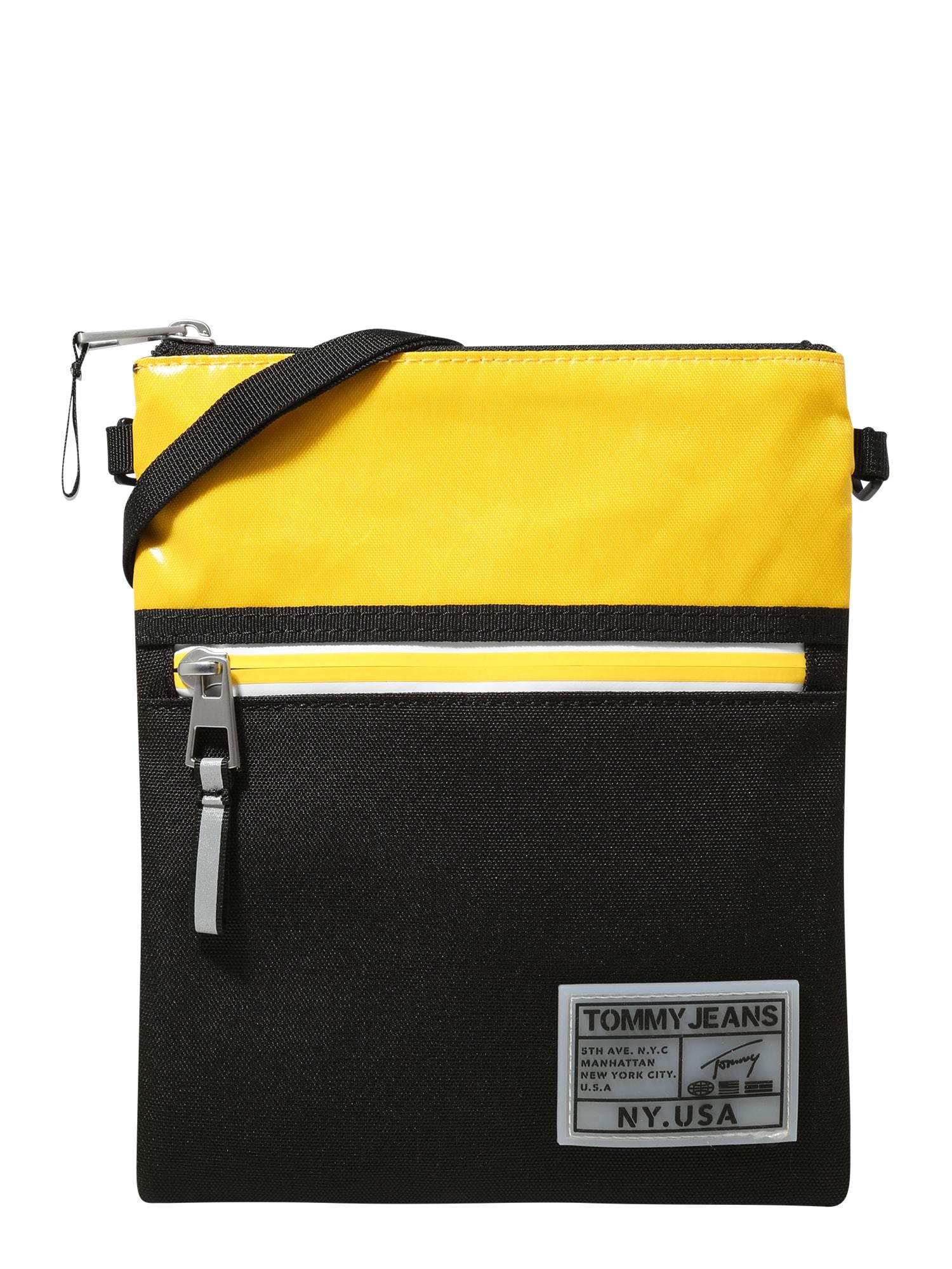 Tommy Jeans Taška přes rameno 'College'  černá / žlutá
