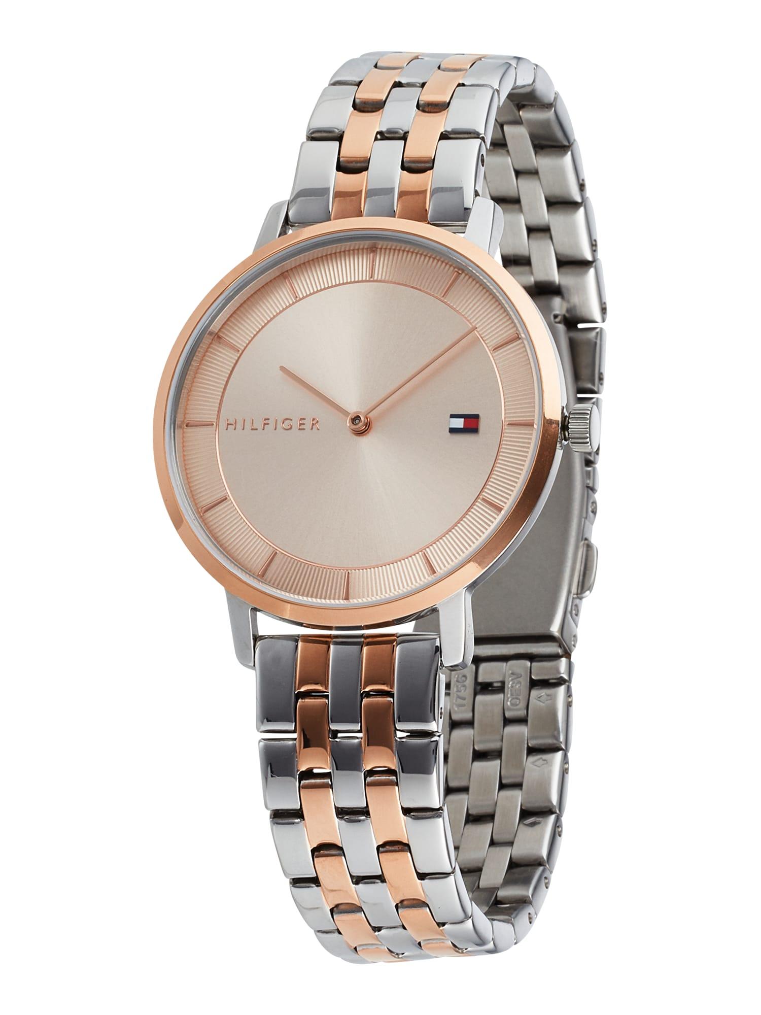 TOMMY HILFIGER Analoginis (įprasto dizaino) laikrodis sidabrinė / rožinio aukso spalva