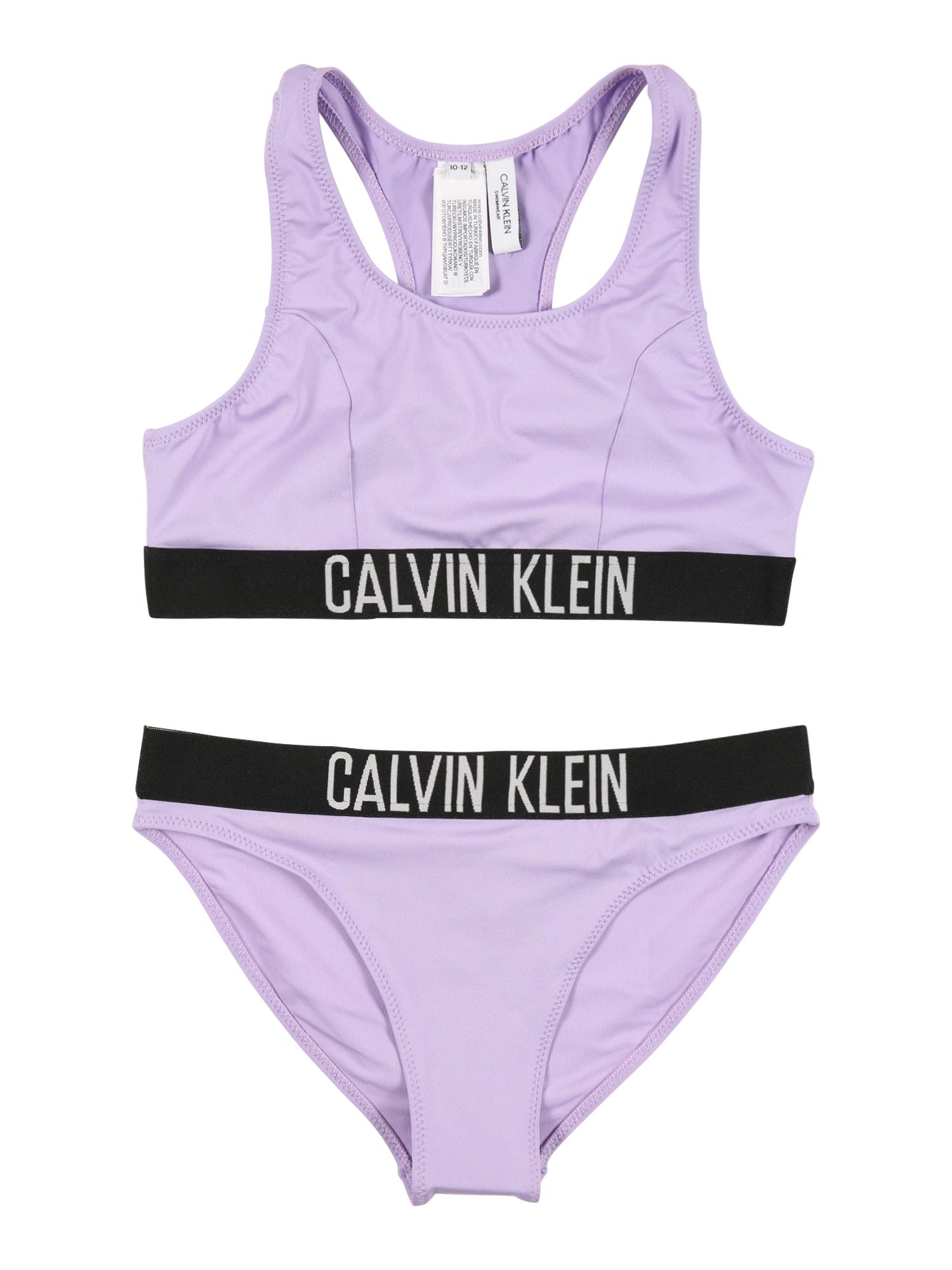 Calvin Klein Swimwear Bikinis levandų spalva / juoda / balta