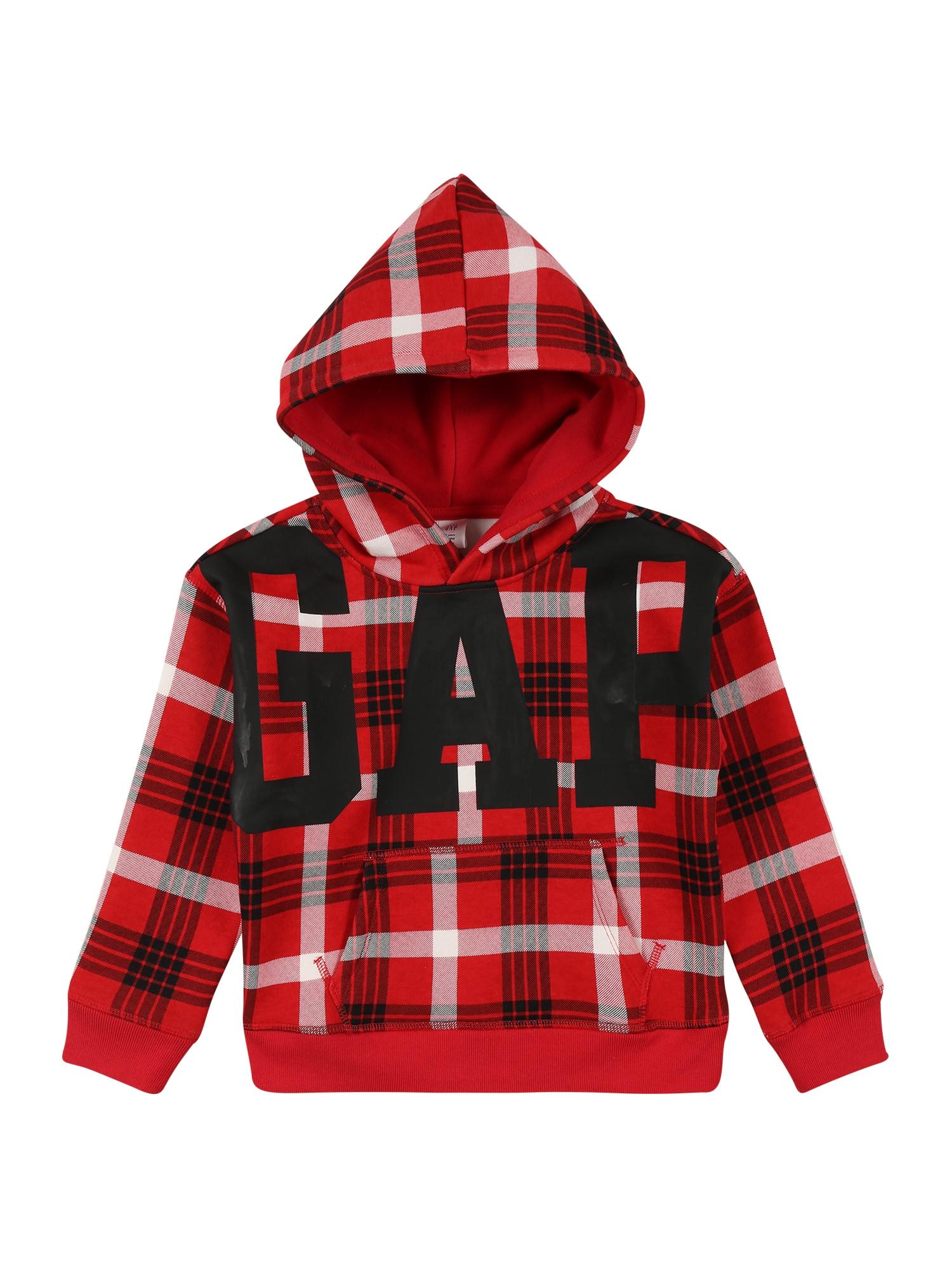 GAP Megztinis be užsegimo 'JAC' karmino raudona / balta / juoda