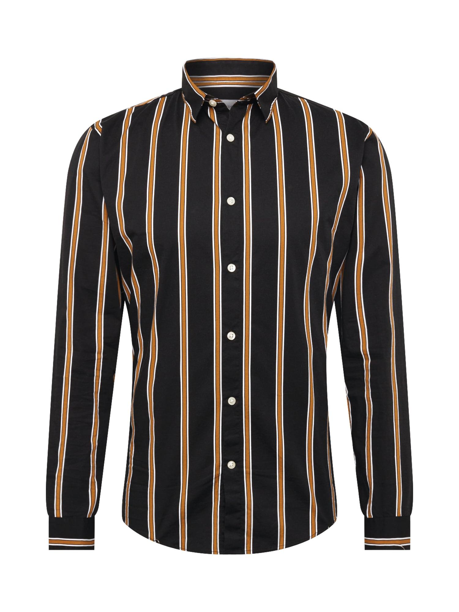 Lindbergh Marškiniai juoda / ruda / balta