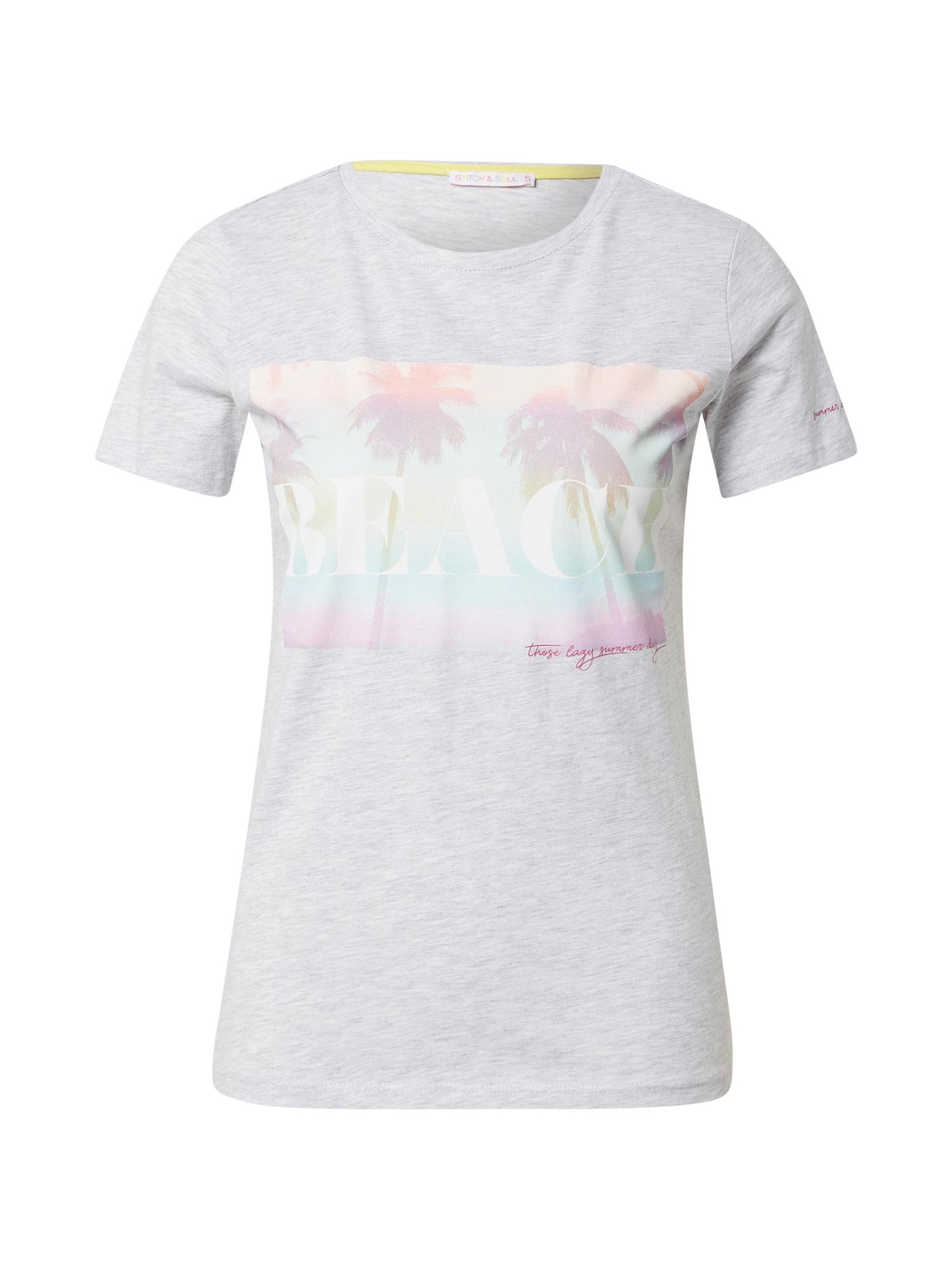 Stitch and Soul Marškinėliai šviesiai pilka / mišrios spalvos