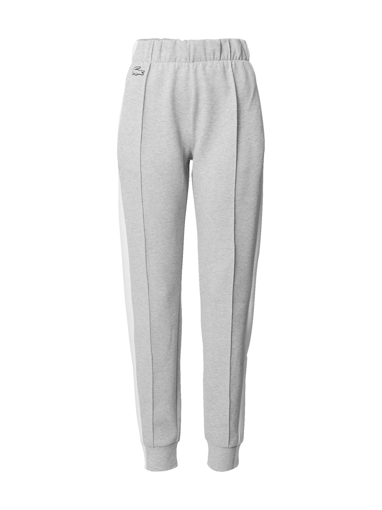 LACOSTE Kalhoty  šedá / bílá
