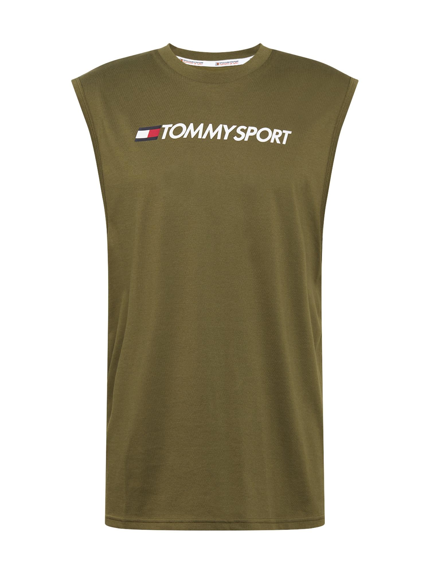 Tommy Sport Funkční tričko 'TANK TOP HBR LOGO'  khaki