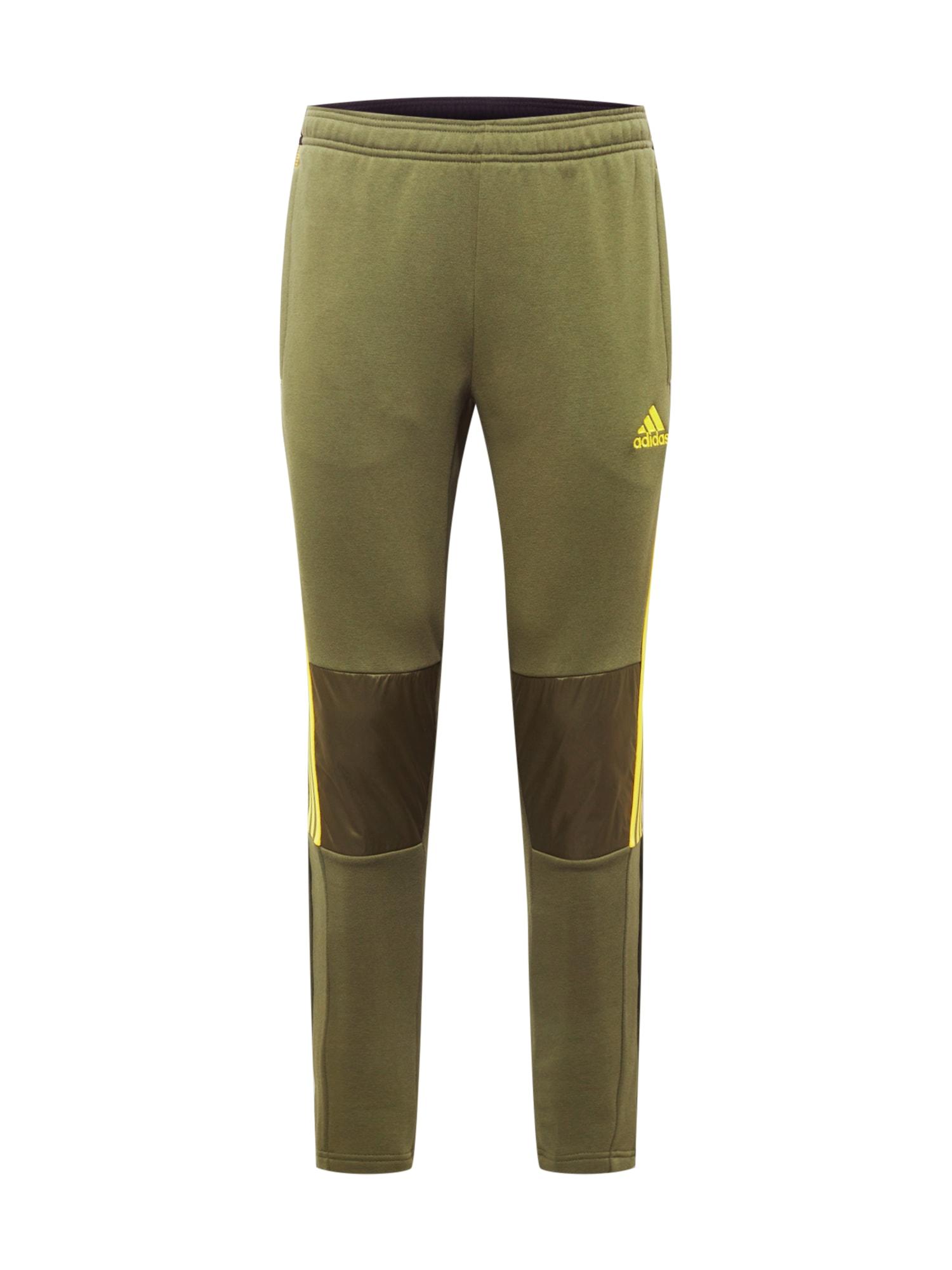 ADIDAS PERFORMANCE Sportovní kalhoty 'Tiro'  khaki / zlatě žlutá