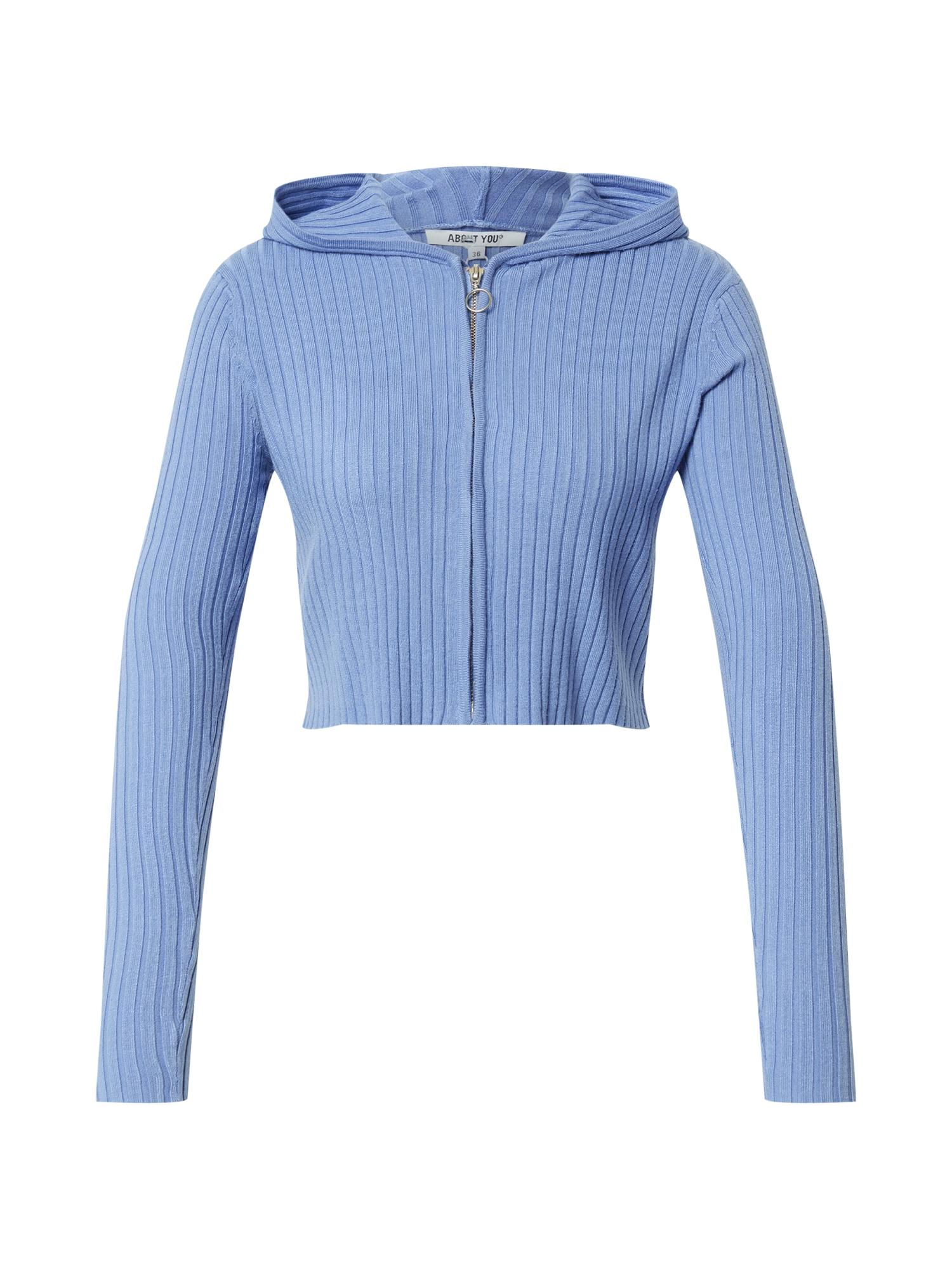 ABOUT YOU Džemperis 'Cassia Jacket' mėlyna