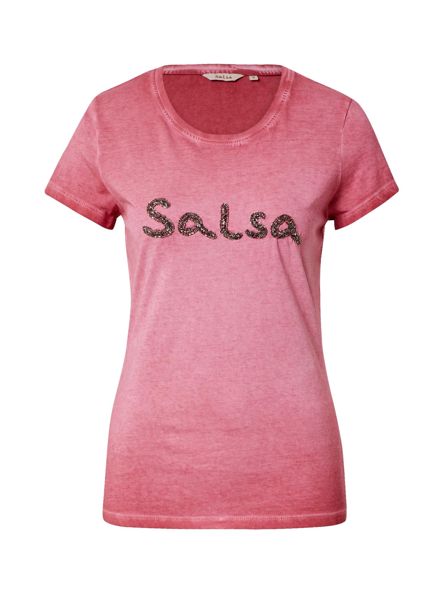 Salsa Marškinėliai pastelinė raudona