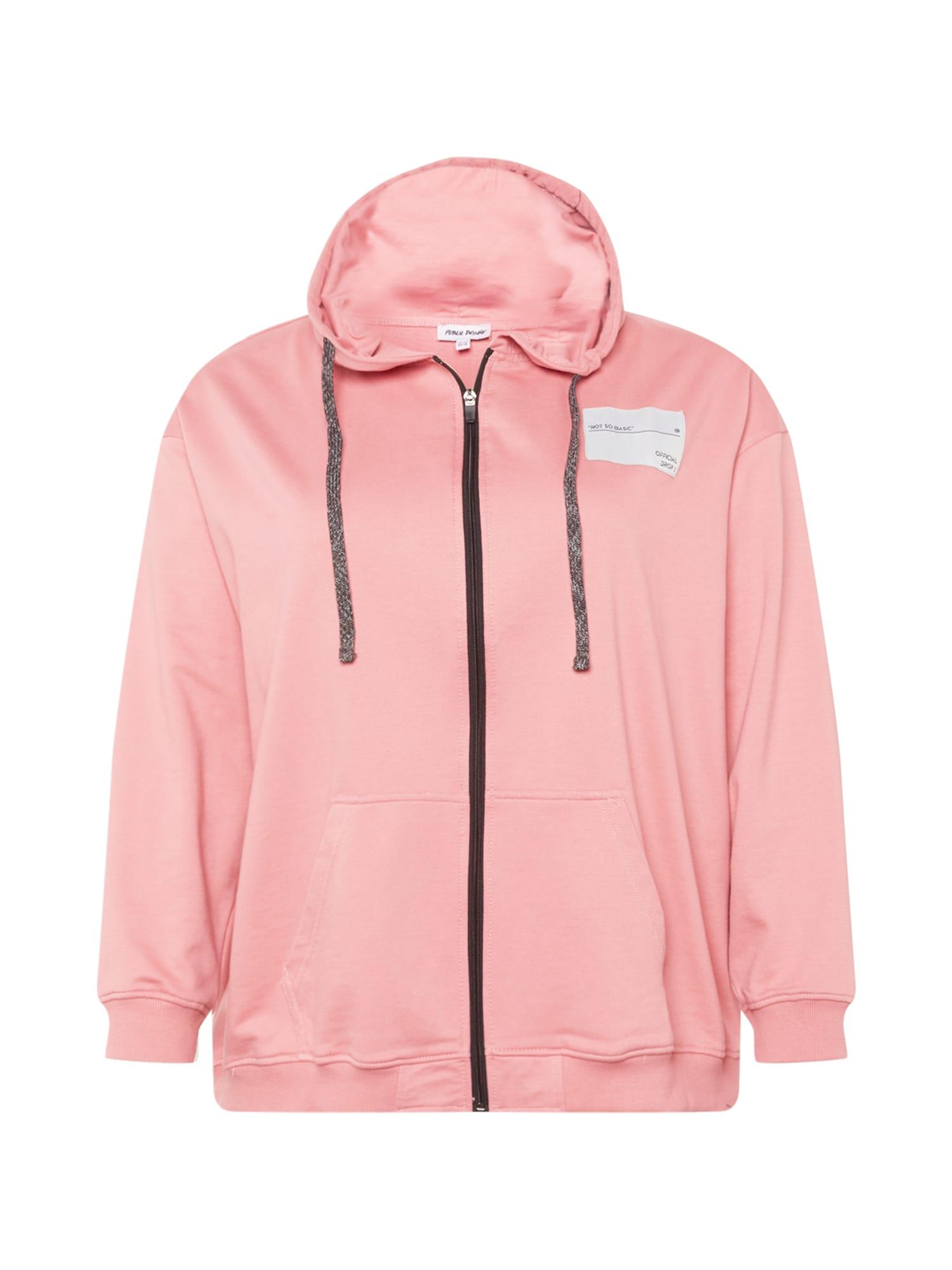 Public Desire Curve Džemperis ryškiai rožinė spalva / balta / juoda