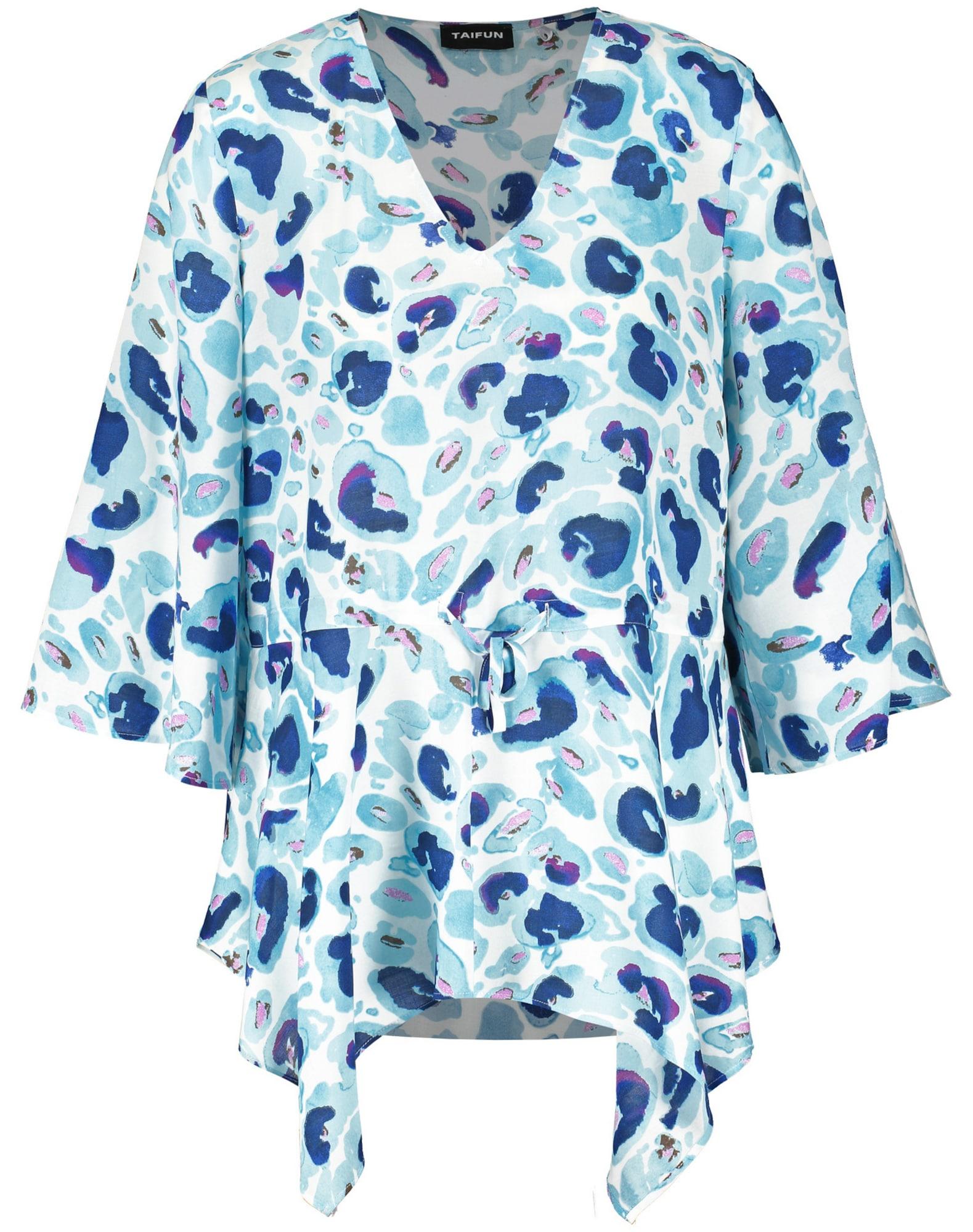 TAIFUN Palaidinė šviesiai mėlyna / indigo spalva / balta / orchidėjų spalva