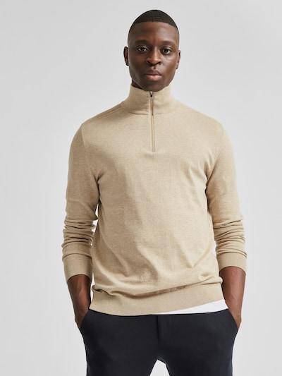 Selected Homme Berg Pullover mit viertellangem Reißverschluss