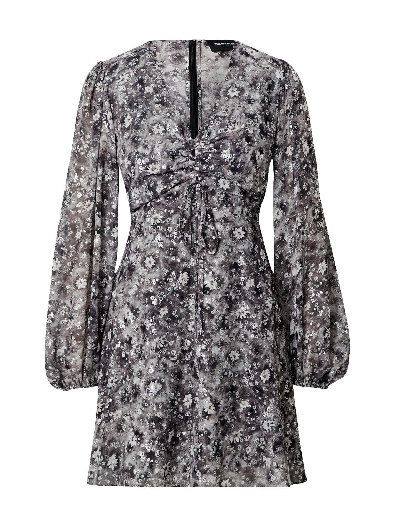 The Kooples Suknelė nebalintos drobės spalva / juoda