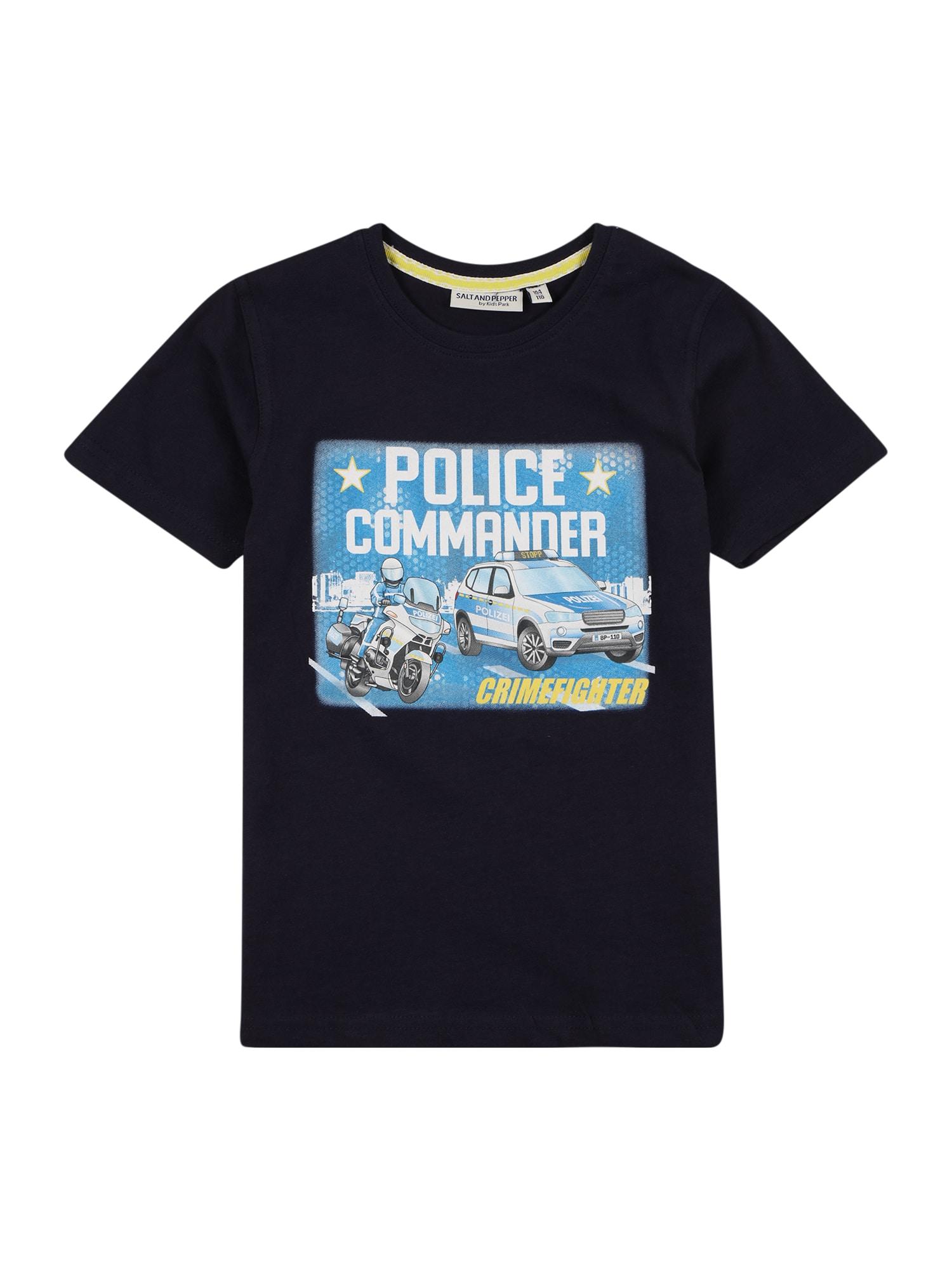 SALT AND PEPPER Marškinėliai tamsiai mėlyna / dangaus žydra / balta / geltona / pilka / juoda