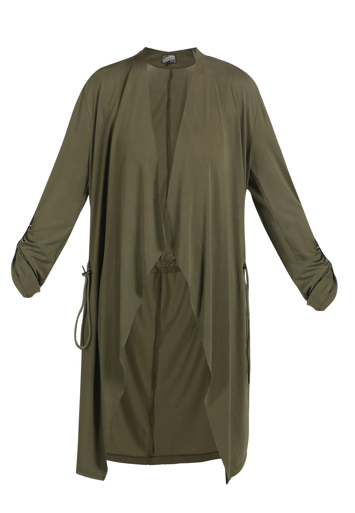 DreiMaster Vintage Vasarinis paltas rusvai žalia