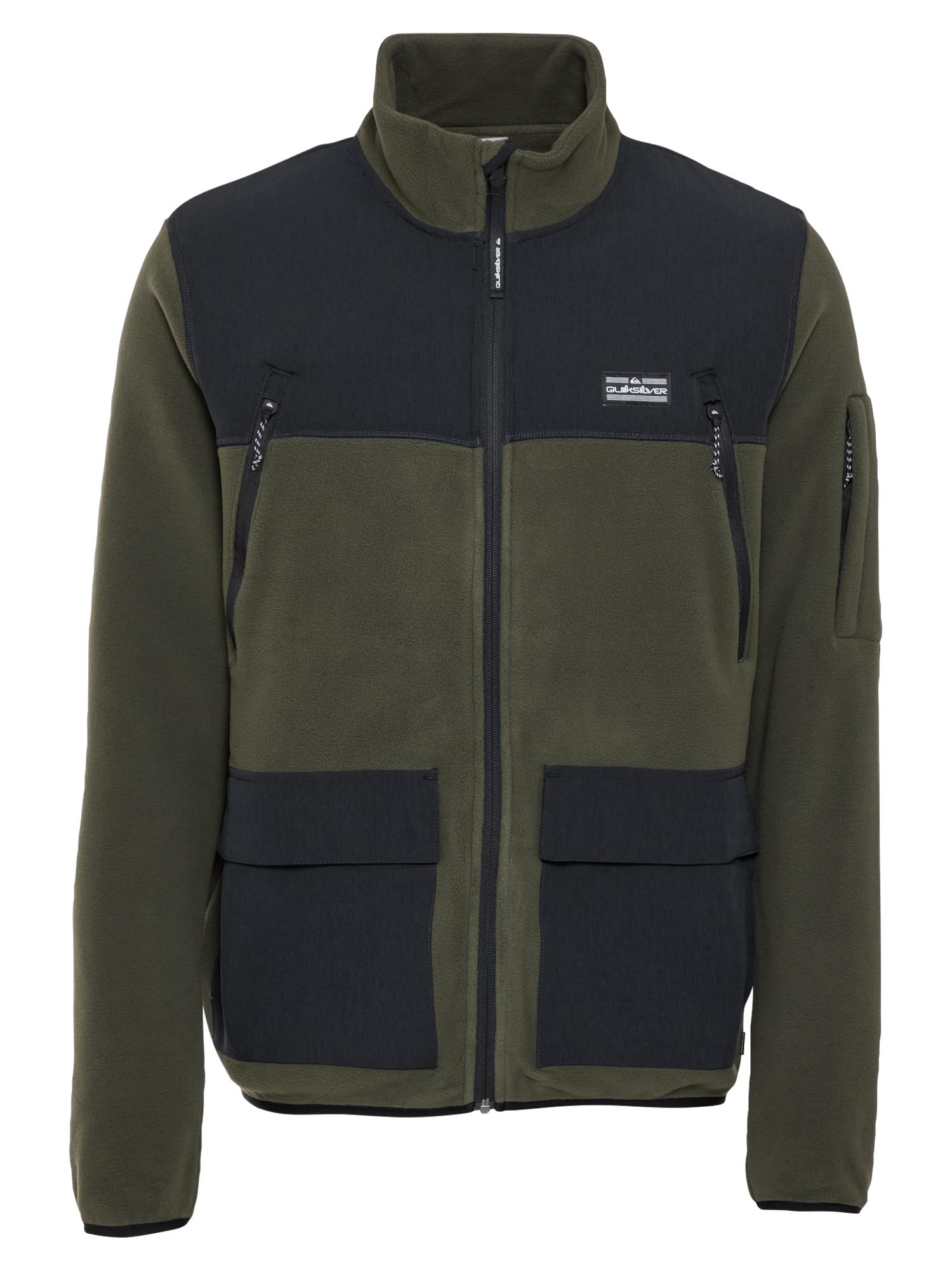 QUIKSILVER Flisinis džemperis grafito / rusvai žalia