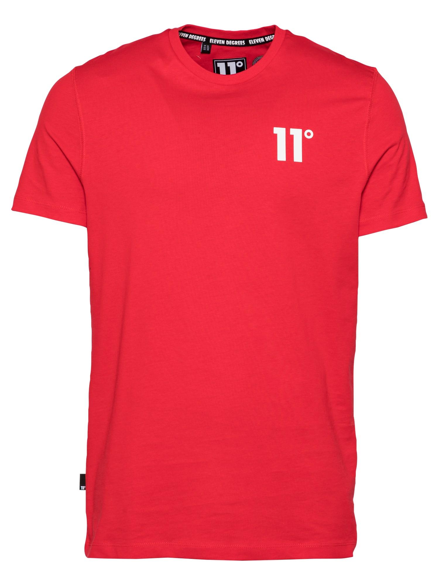 11 Degrees Marškinėliai 'CORE' raudona