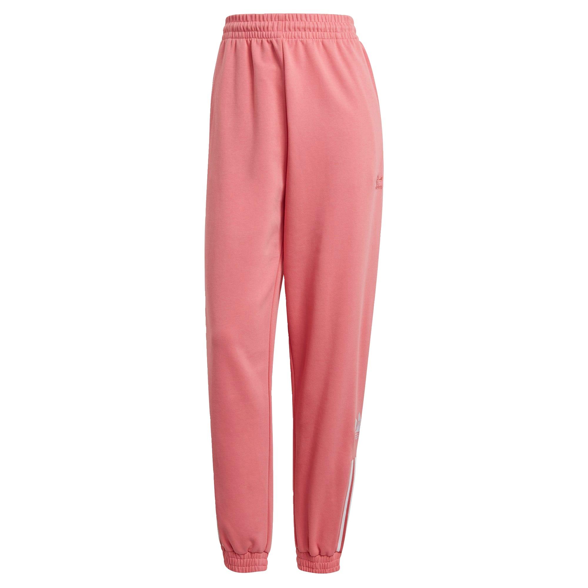 ADIDAS ORIGINALS Kelnės balta / ryškiai rožinė spalva