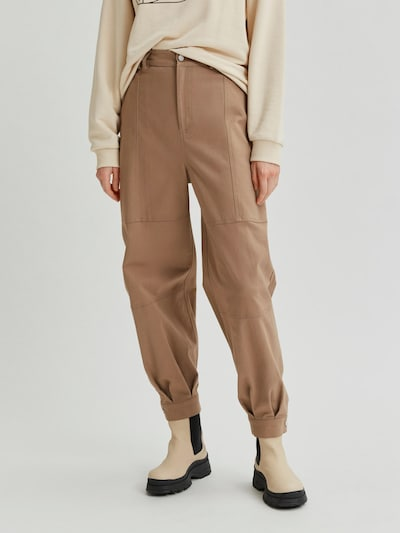 Selected Femme Scene Cargohose mit hoher Taille, leicht konisch zulaufend