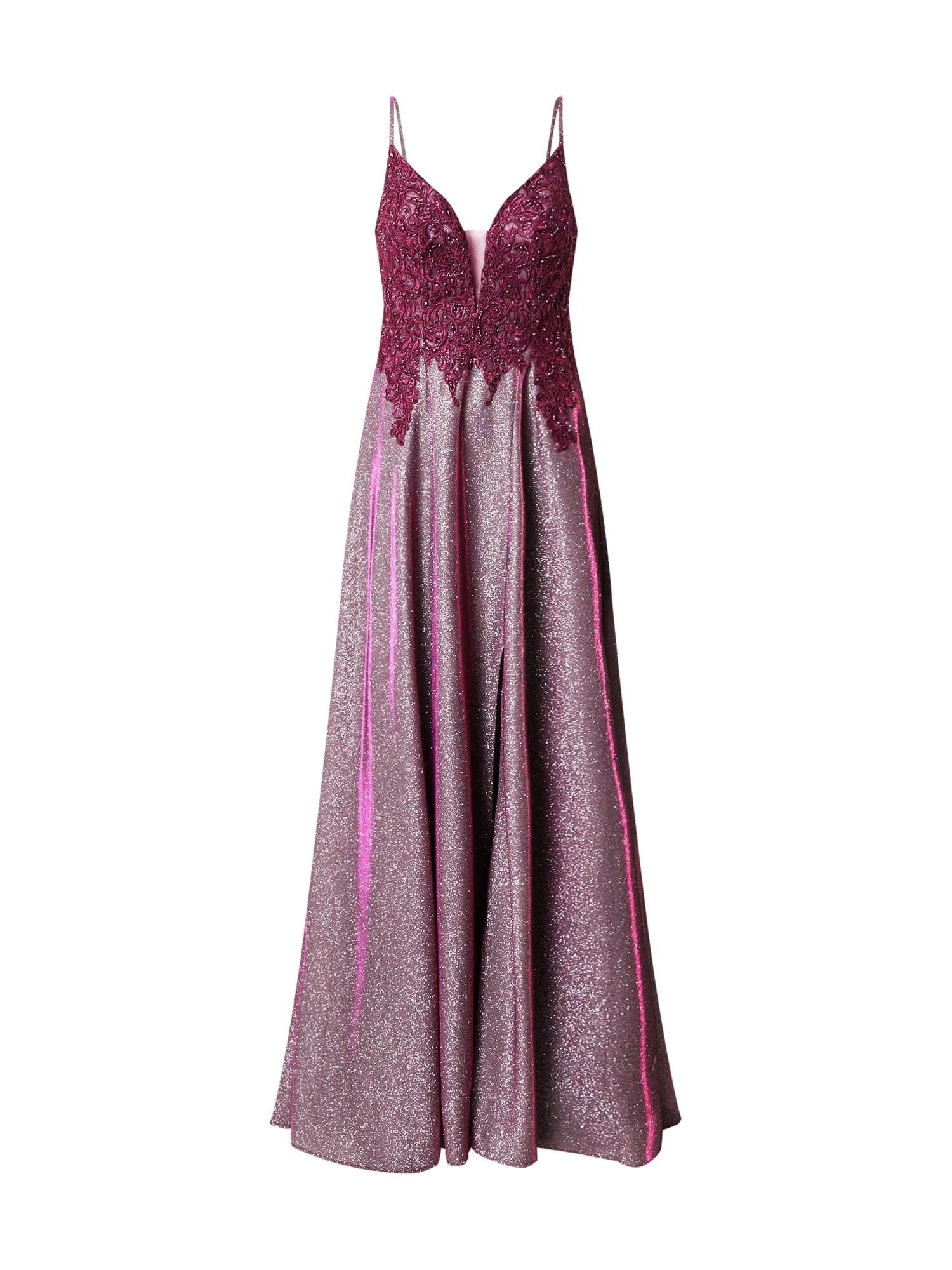 Unique Vakarinė suknelė rožinio aukso spalva / avietinė