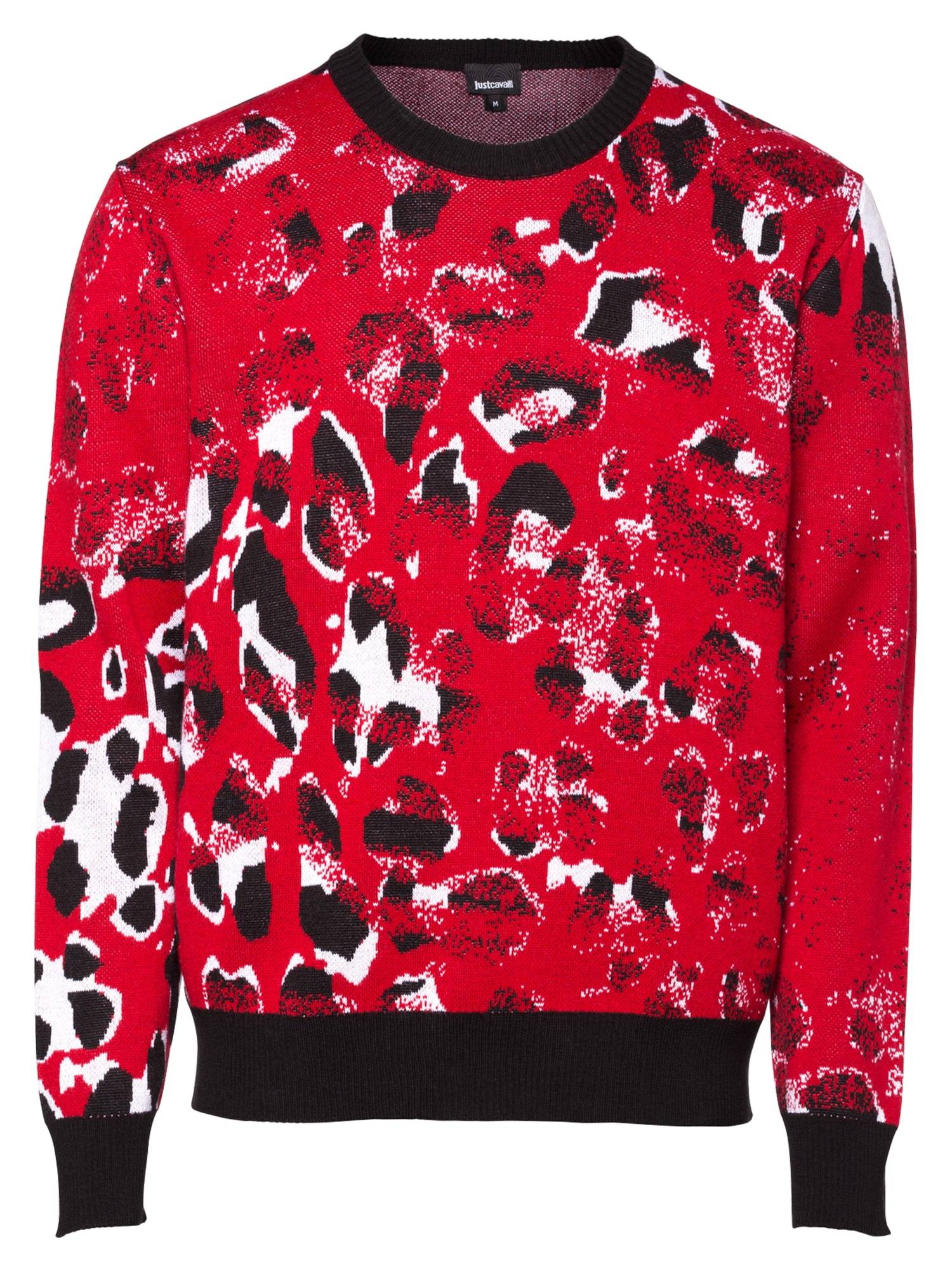 Just Cavalli Megztinis raudona / balta / juoda