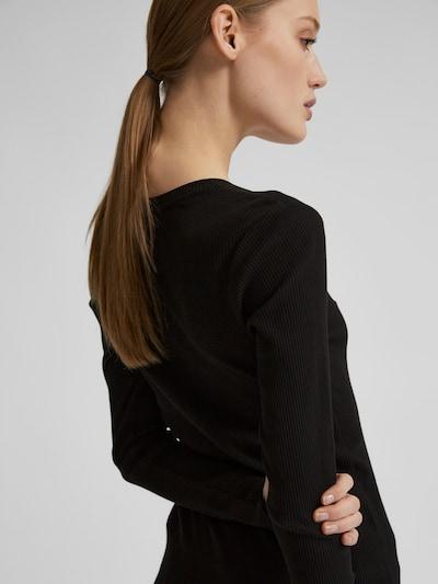 Selected Femme Petite Anna Langarm-T-Shirt mit Rundhalsausschnitt