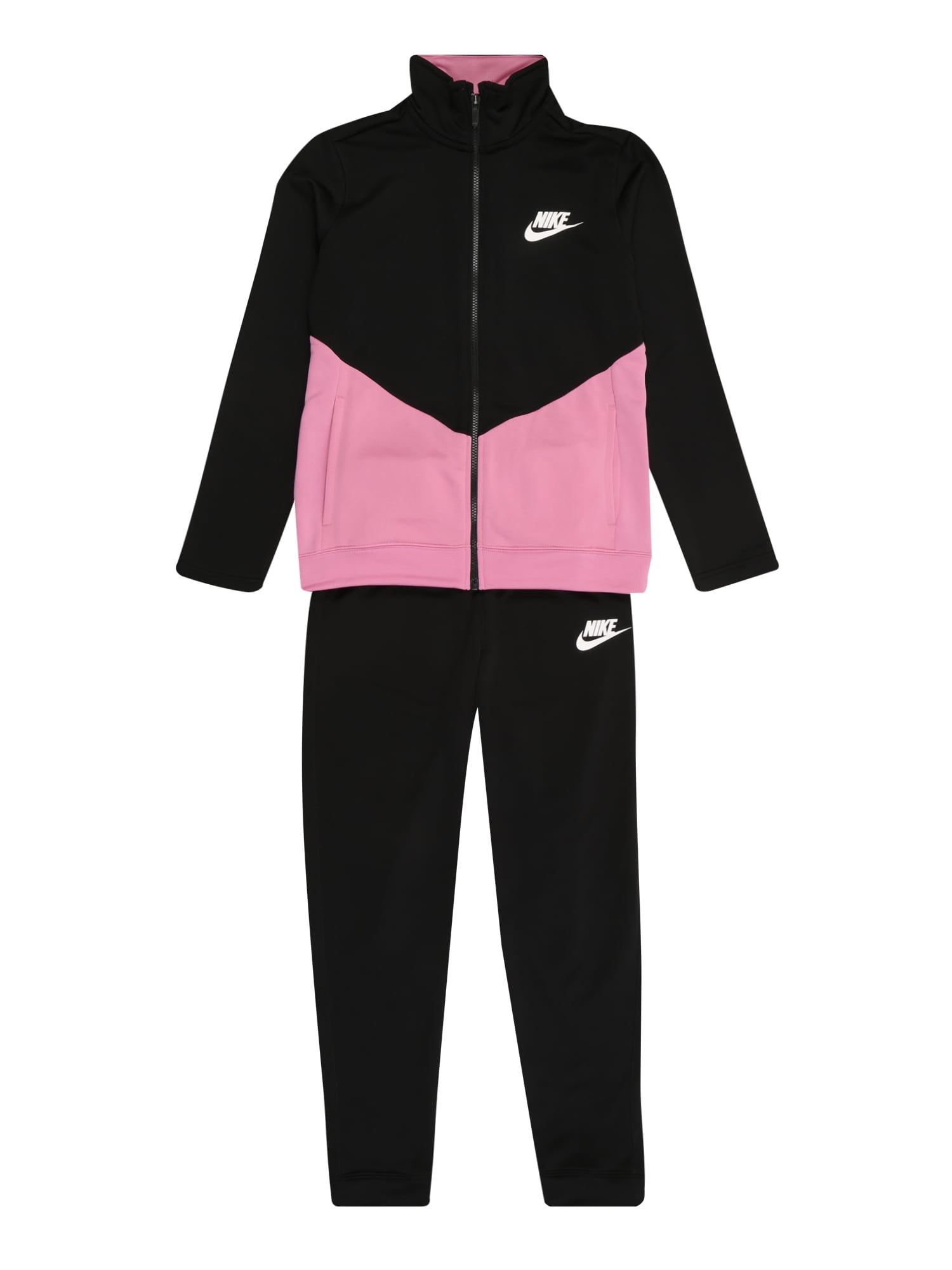 Nike Sportswear Joggingová súprava  čierna / ružová