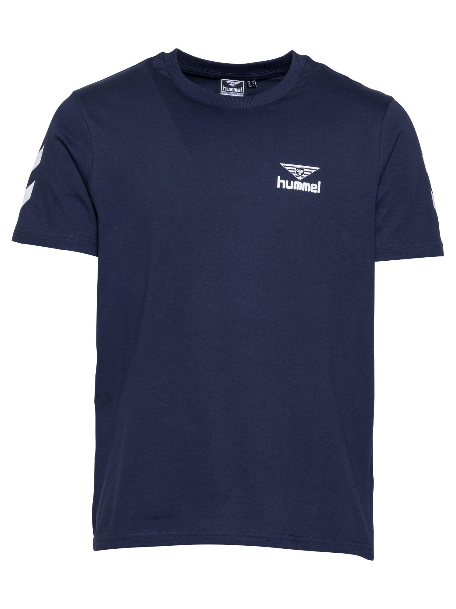 hummel hive Marškinėliai balta / tamsiai mėlyna jūros spalva