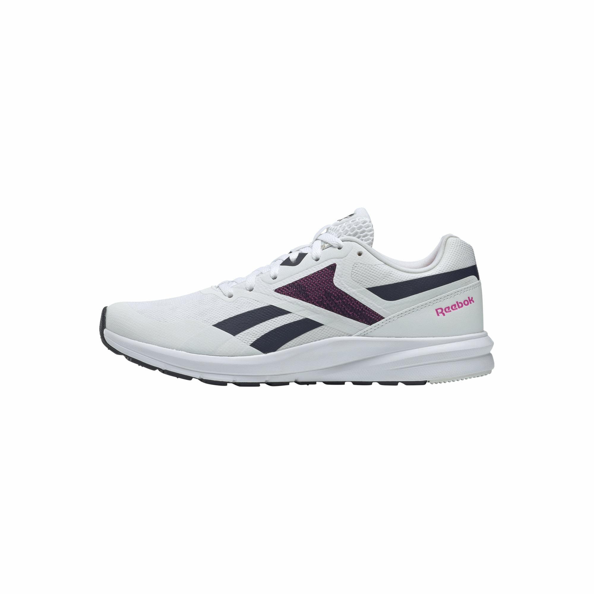 REEBOK Bėgimo batai balta / tamsiai mėlyna / rožinė
