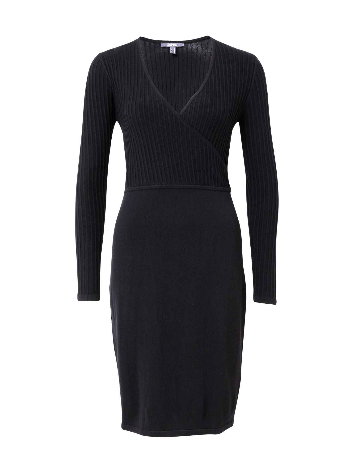 Esprit Collection Megzta suknelė juoda