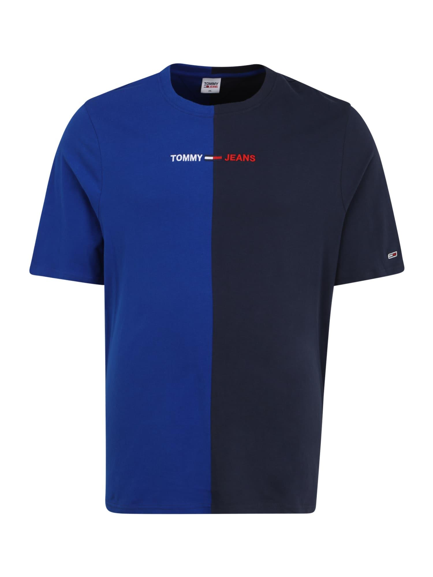 Tommy Jeans Plus Marškinėliai tamsiai mėlyna / mėlyna / balta / raudona