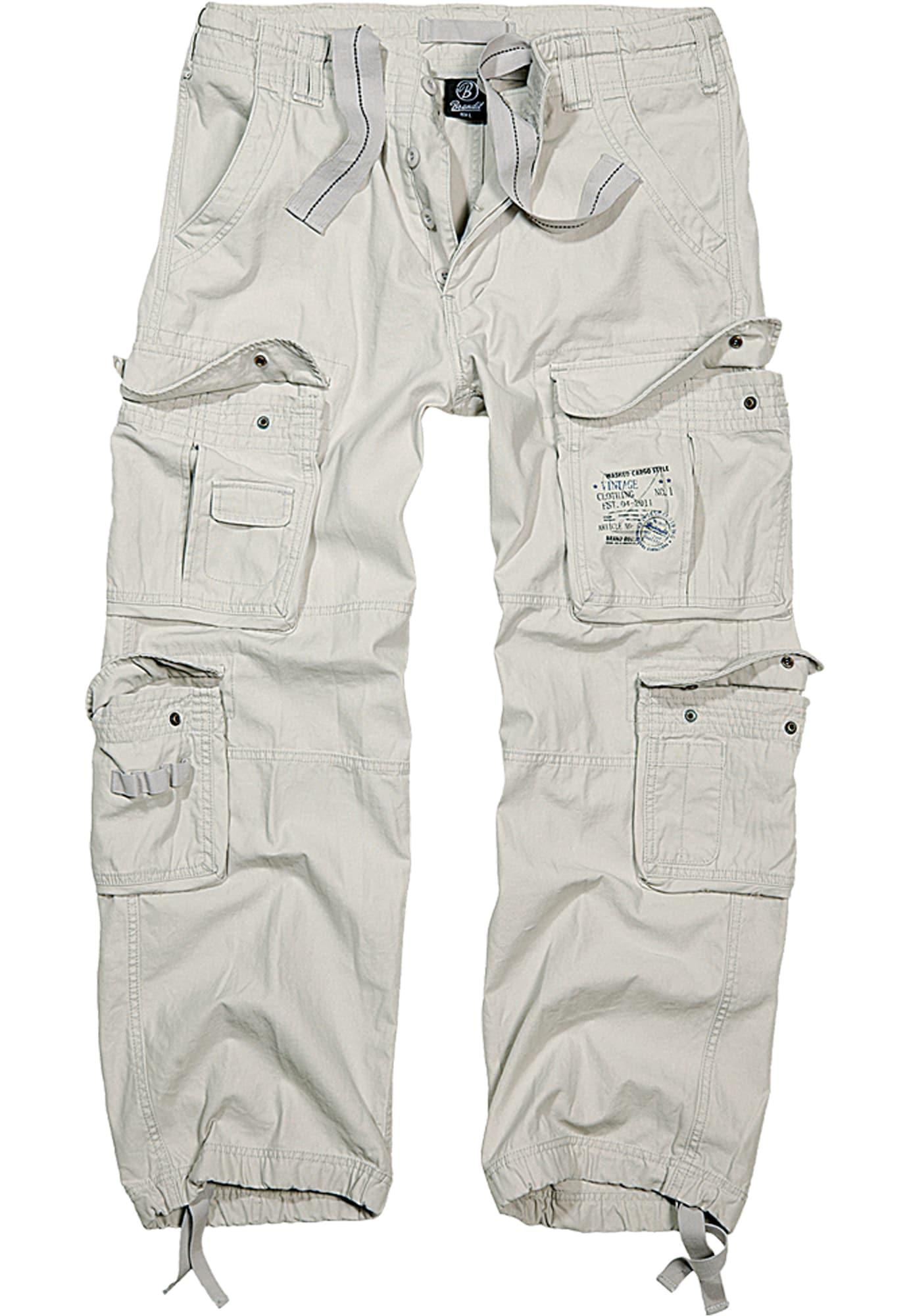 Brandit Laisvo stiliaus kelnės balto džinso spalva