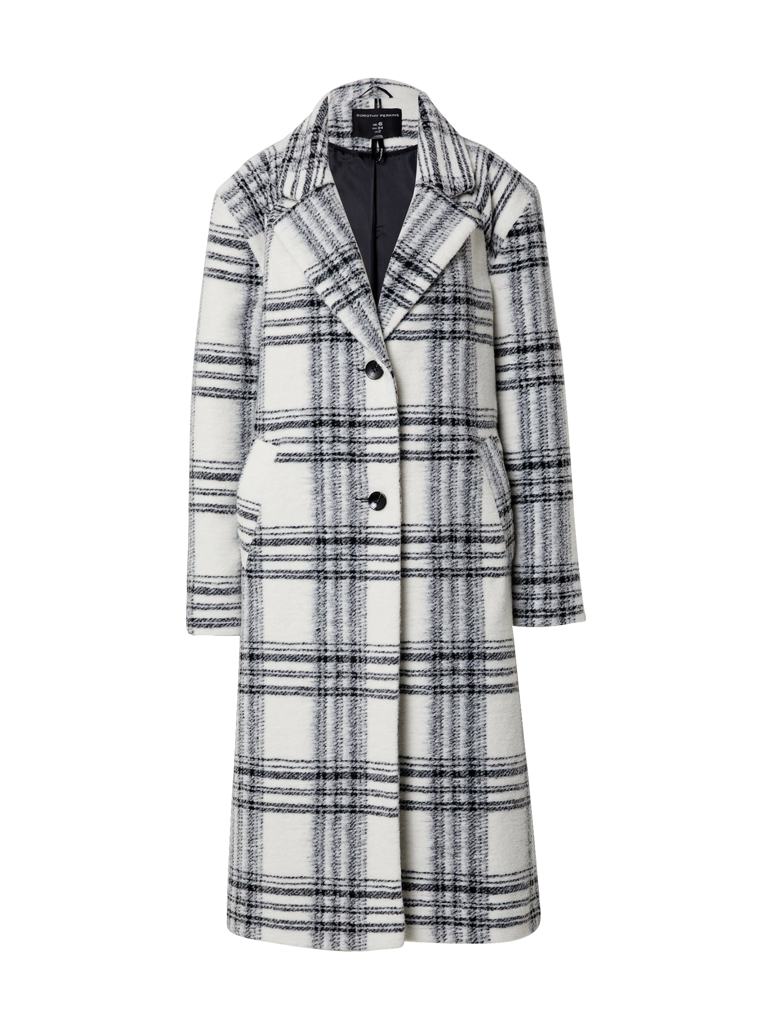 Dorothy Perkins Demisezoninis paltas pilka / balta