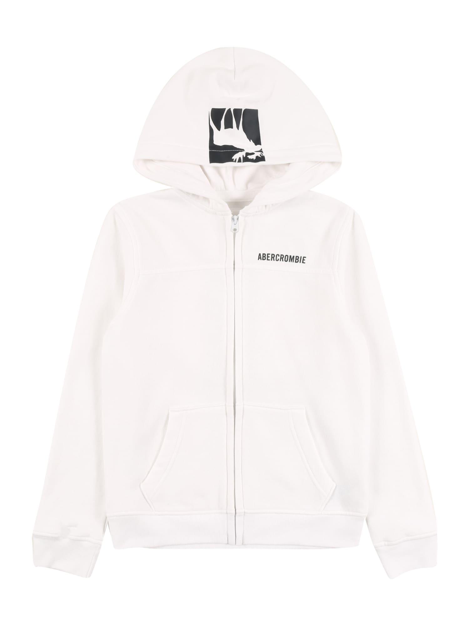 Abercrombie & Fitch Džemperis balta / juoda