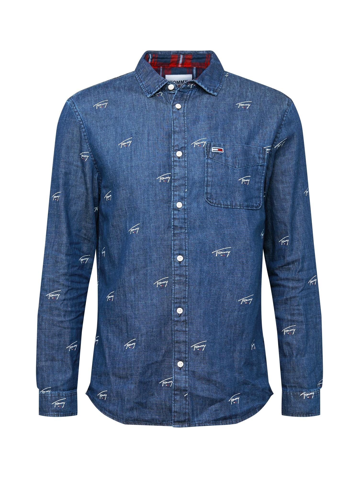 Tommy Jeans Košile  modrá / bílá